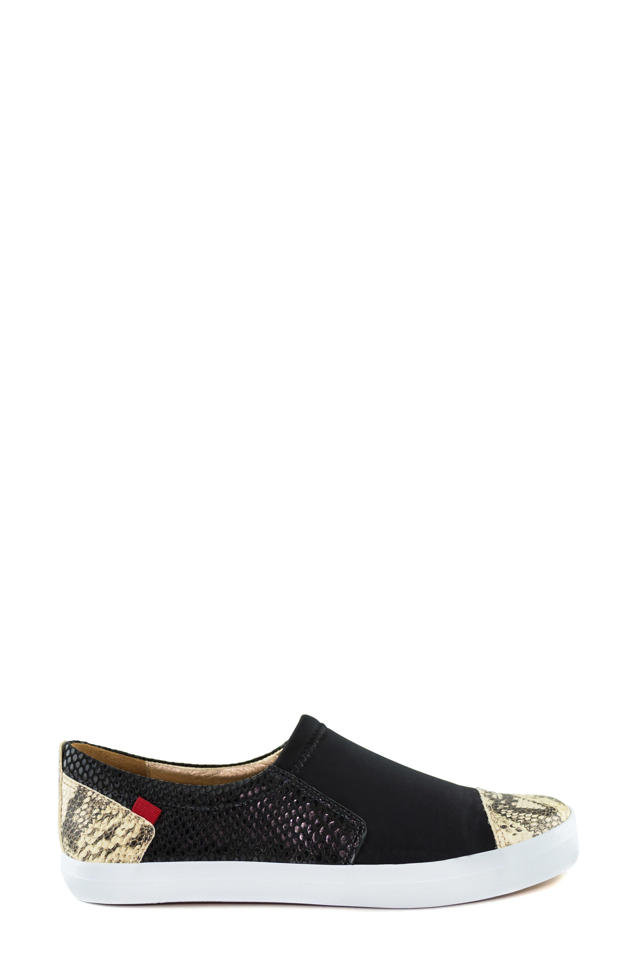 MARC JOSEPH NEW YORK, Jay Street Sneaker, Alternate thumbnail 3, color, BLACK PATCHWORK