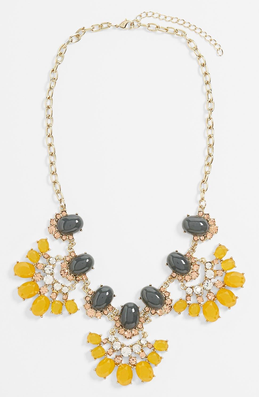 TILDON 'Vintage Floral' Statement Necklace, Main, color, 700