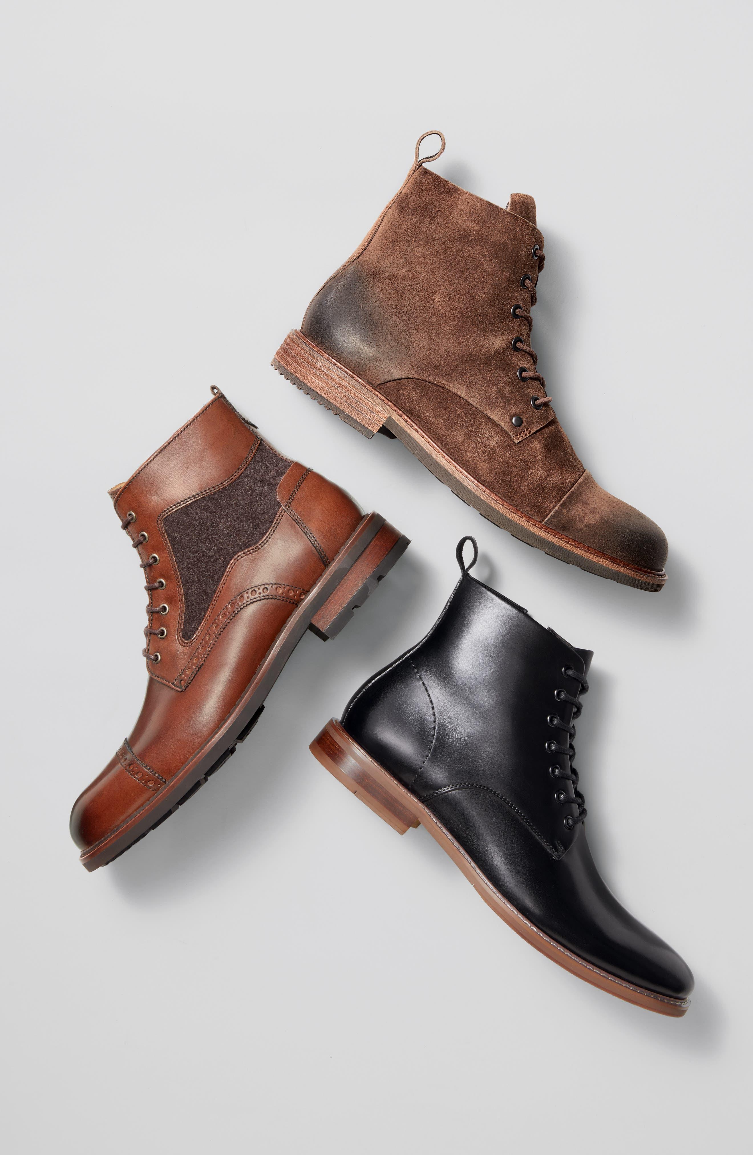 J&M 1850, Fullerton Zip Boot, Alternate thumbnail 7, color, MAHOGANY