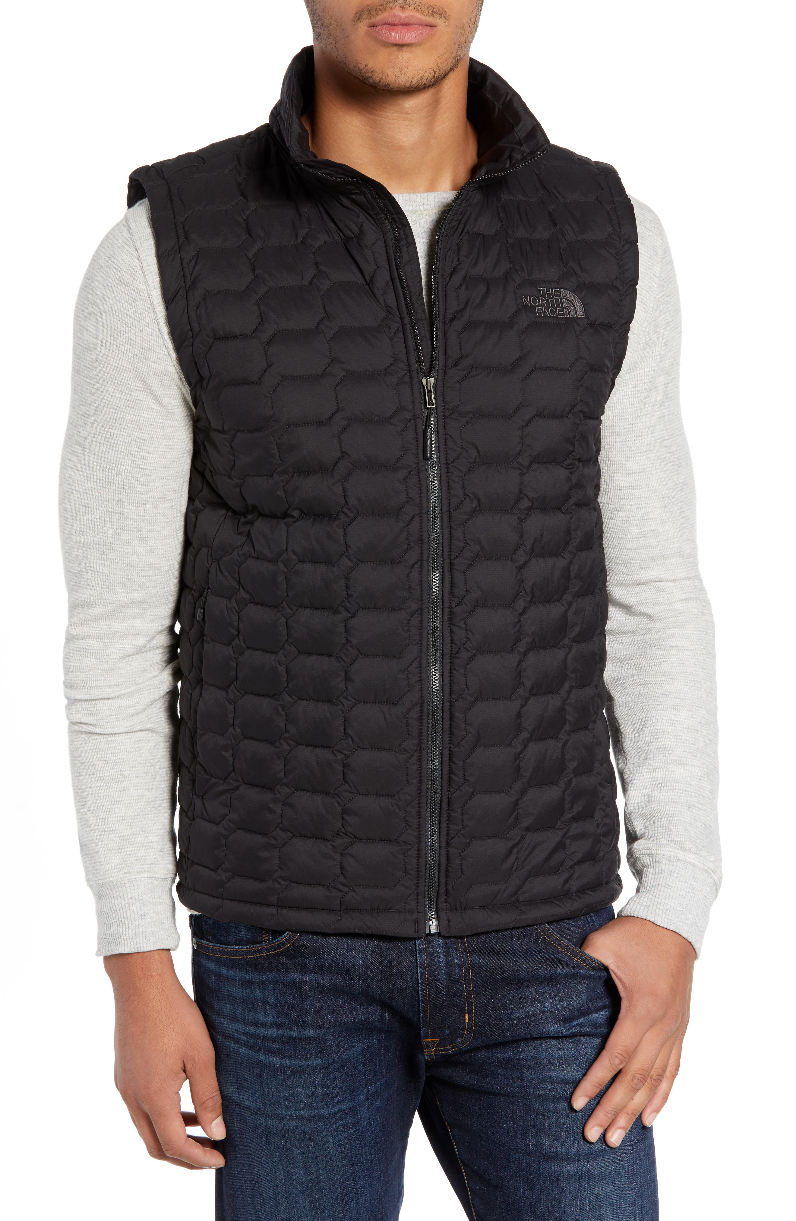 THE NORTH FACE, Thermoball<sup>®</sup> PrimaLoft<sup>®</sup> Vest, Main thumbnail 1, color, TNF BLACK MATTE