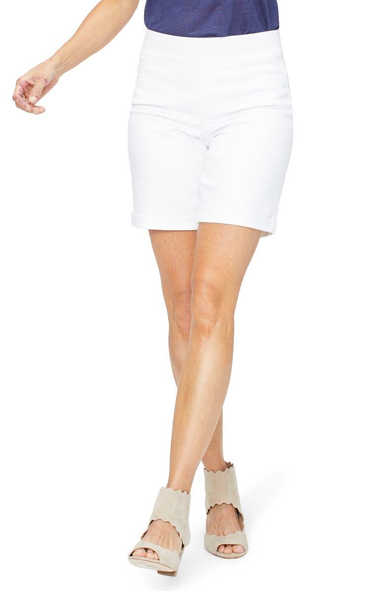 df9a5843dac5a NYDJ Roll Cuff Pull-On Denim Shorts (Optic White)