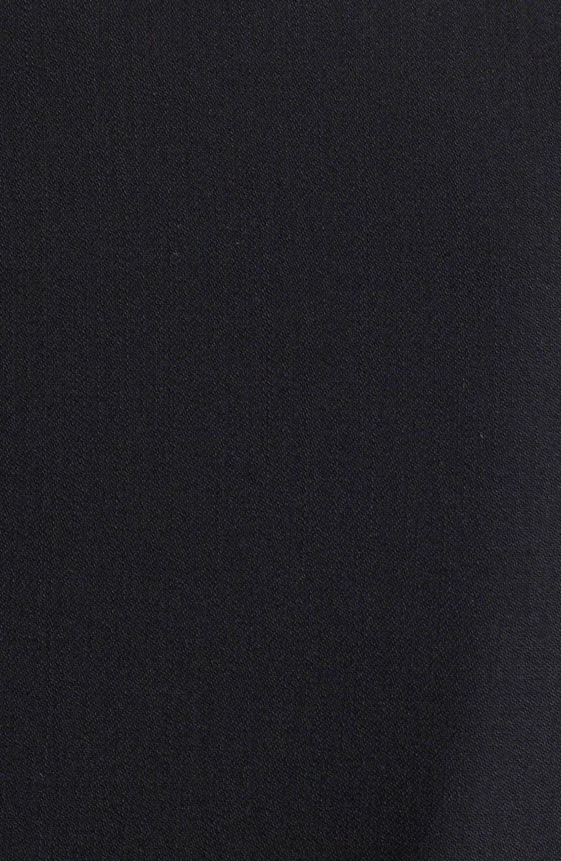 AKRIS PUNTO, Long One-Button Jacket, Alternate thumbnail 9, color, BLACK