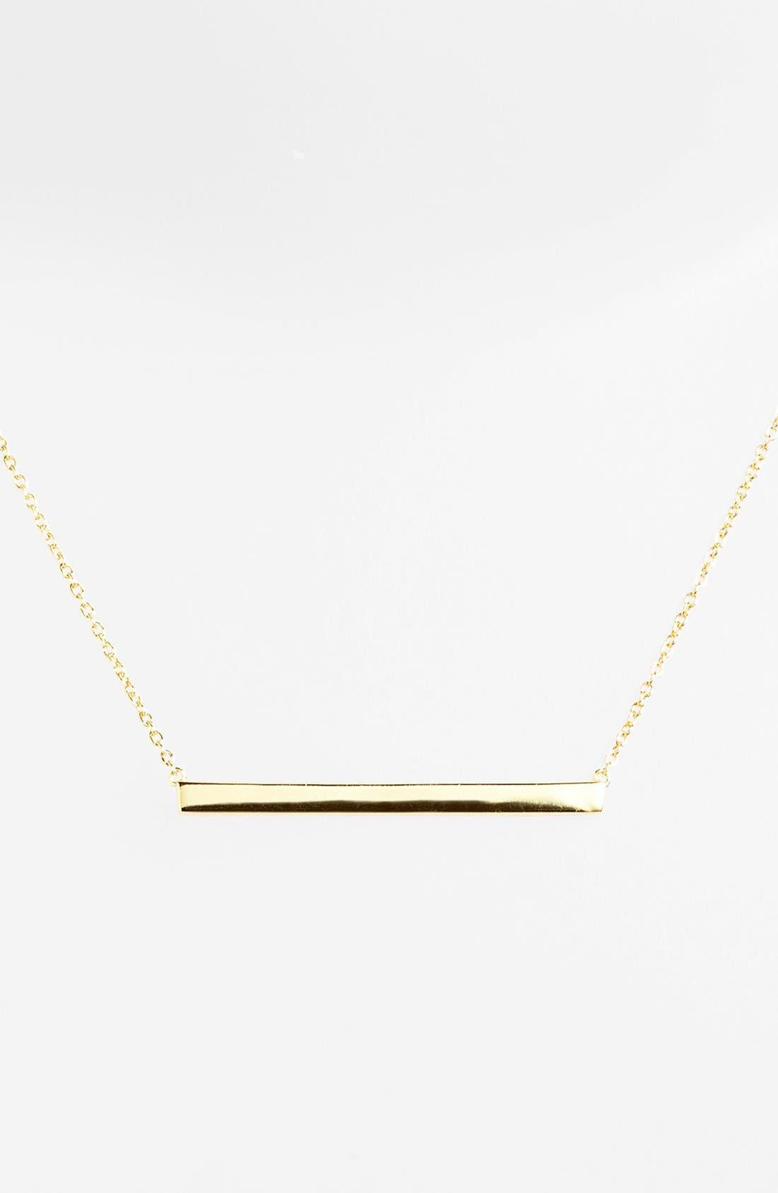 ARGENTO VIVO Bar Pendant Necklace, Main, color, GOLD