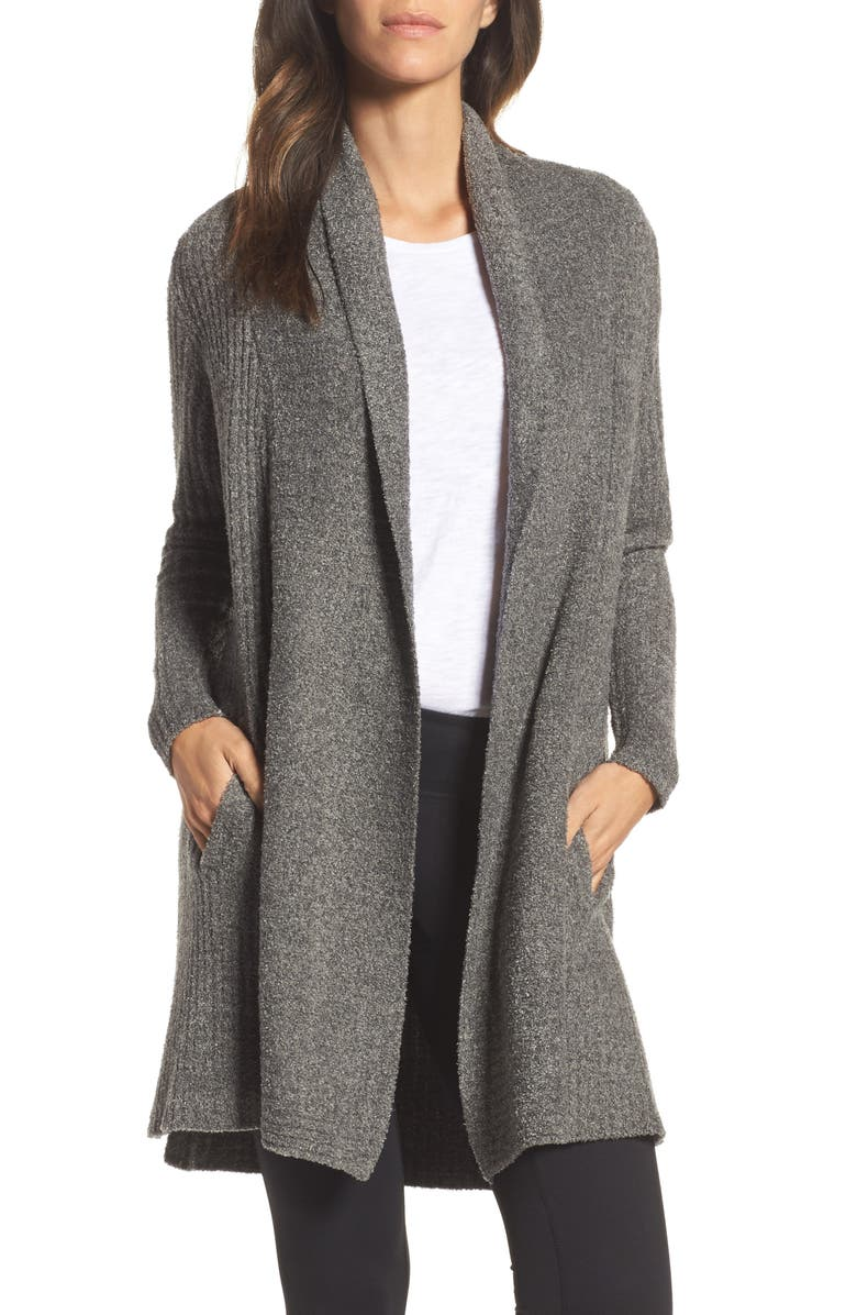 BAREFOOT DREAMS<SUP>®</SUP> Montecito Cardigan, Main, color, LODEN/ CARBON