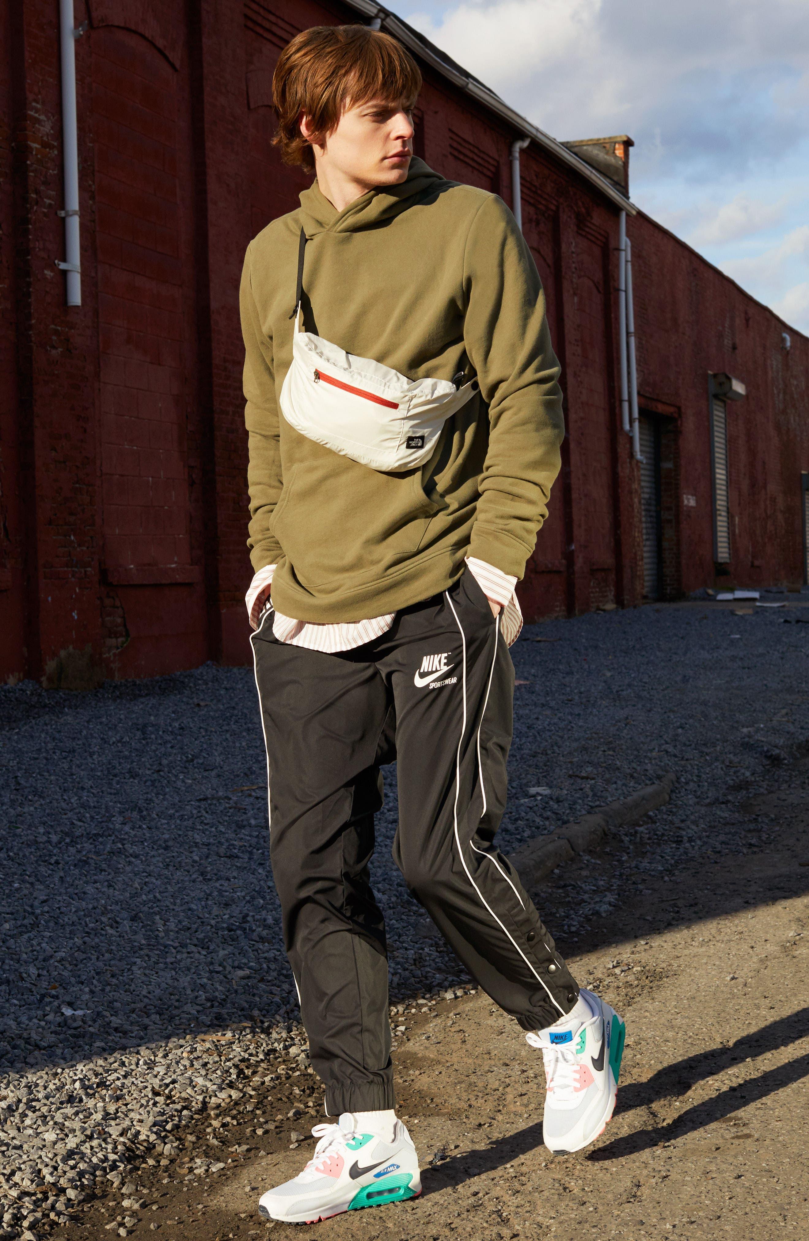 NIKE, Air Max 90 Essential Sneaker, Alternate thumbnail 8, color, BLACK/ WHITE/ COOL GREY