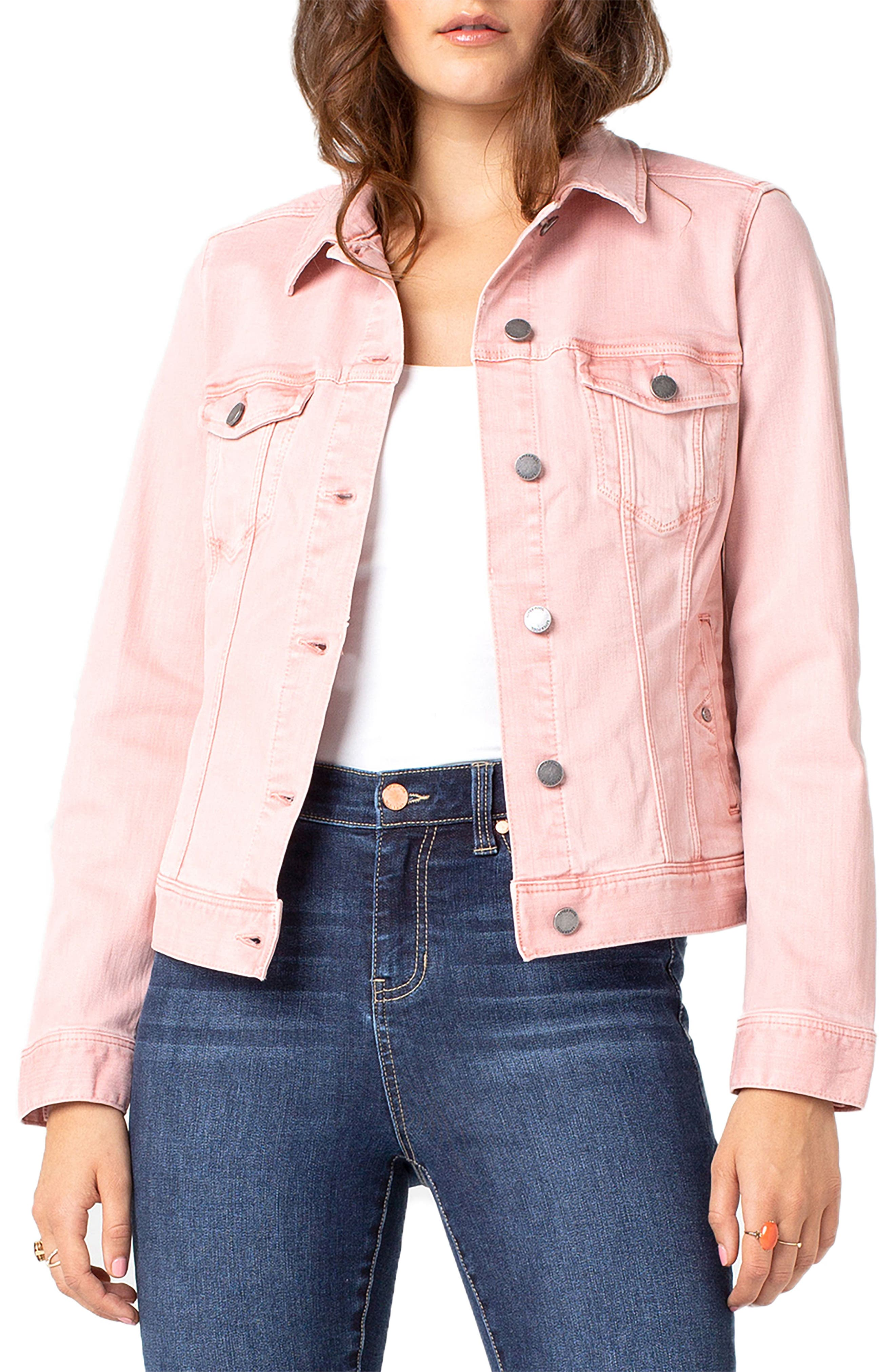 LIVERPOOL Denim Jacket, Main, color, MISTY ROSE