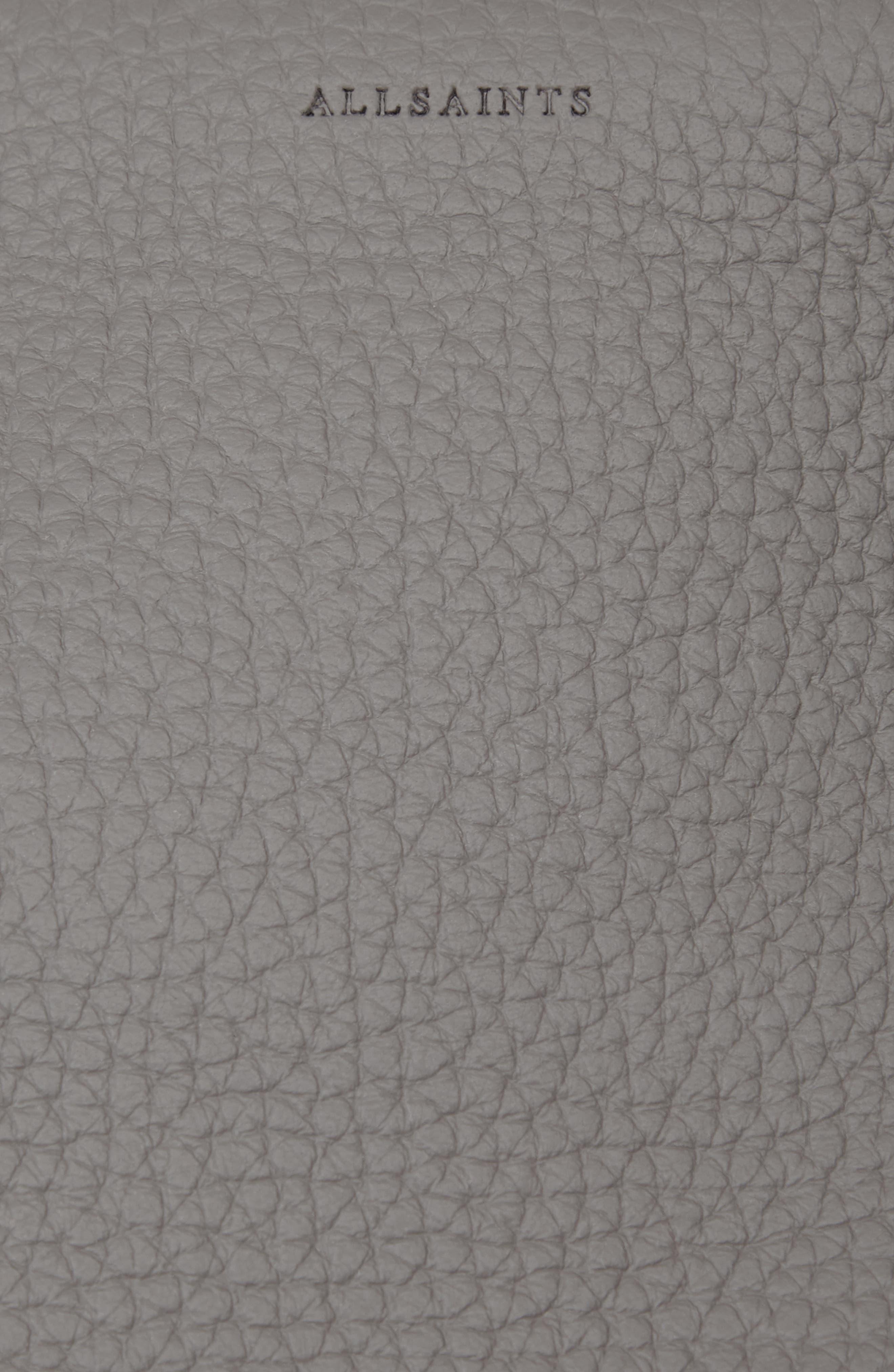 ALLSAINTS, Small Kita Convertible Leather Backpack, Alternate thumbnail 6, color, STORM GREY