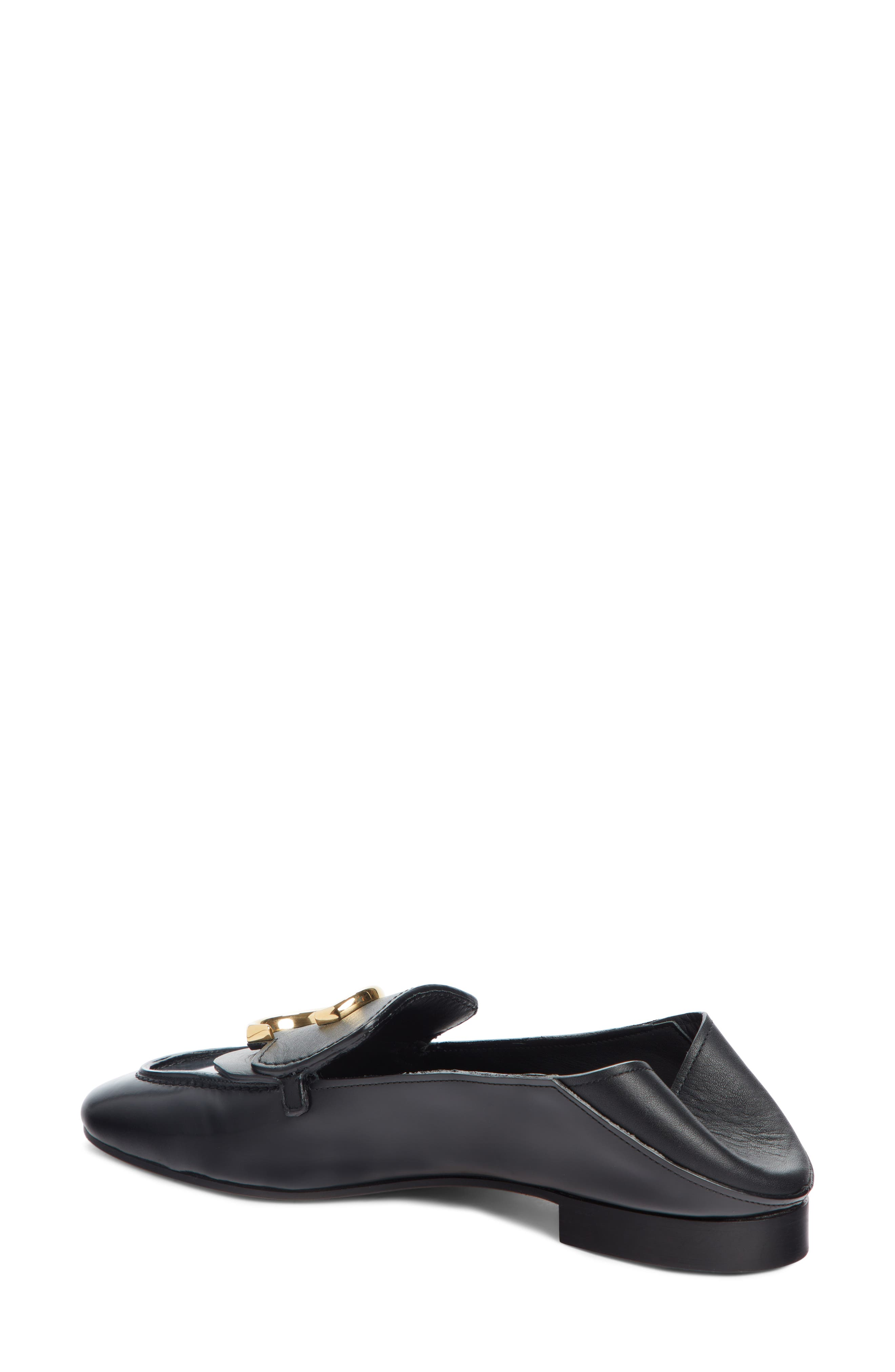 CHLOÉ, Story Convertible Loafer, Alternate thumbnail 2, color, BLACK LEATHER