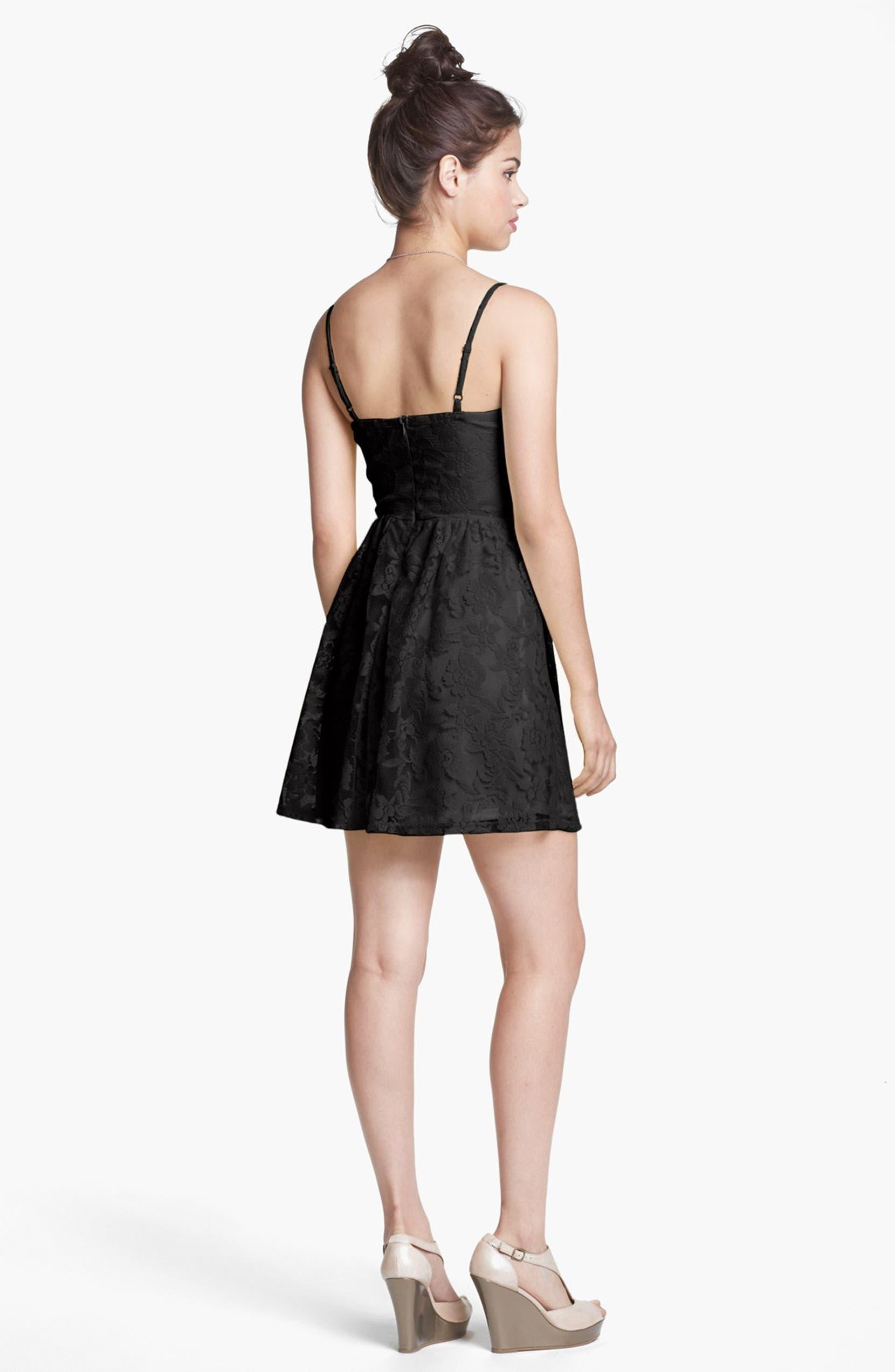 4e571c25b304 Socialite Lace Skater Dress (Juniors) (Online Only) | Nordstrom