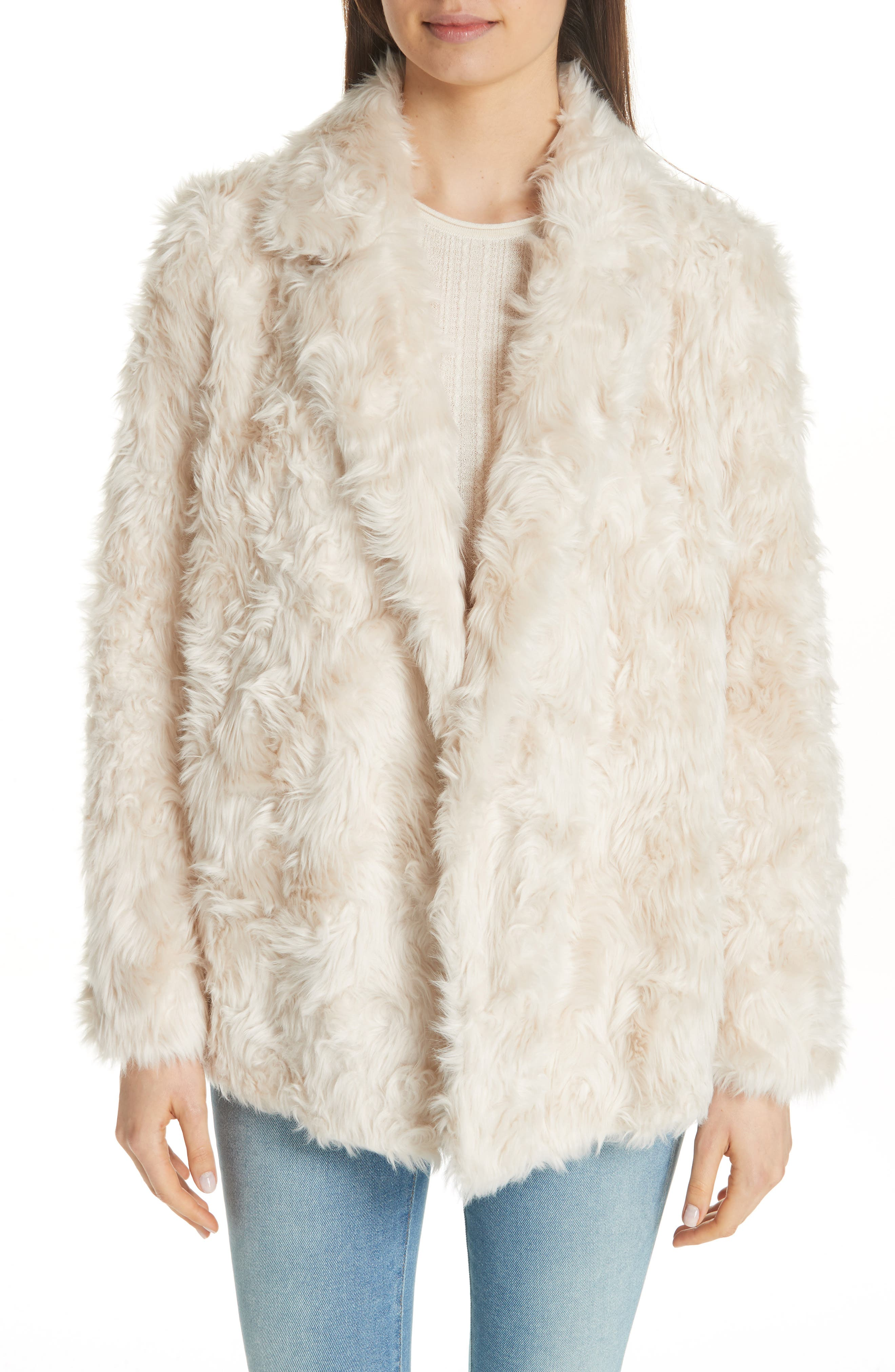 THEORY, Clairene Faux Fur Jacket, Main thumbnail 1, color, 907