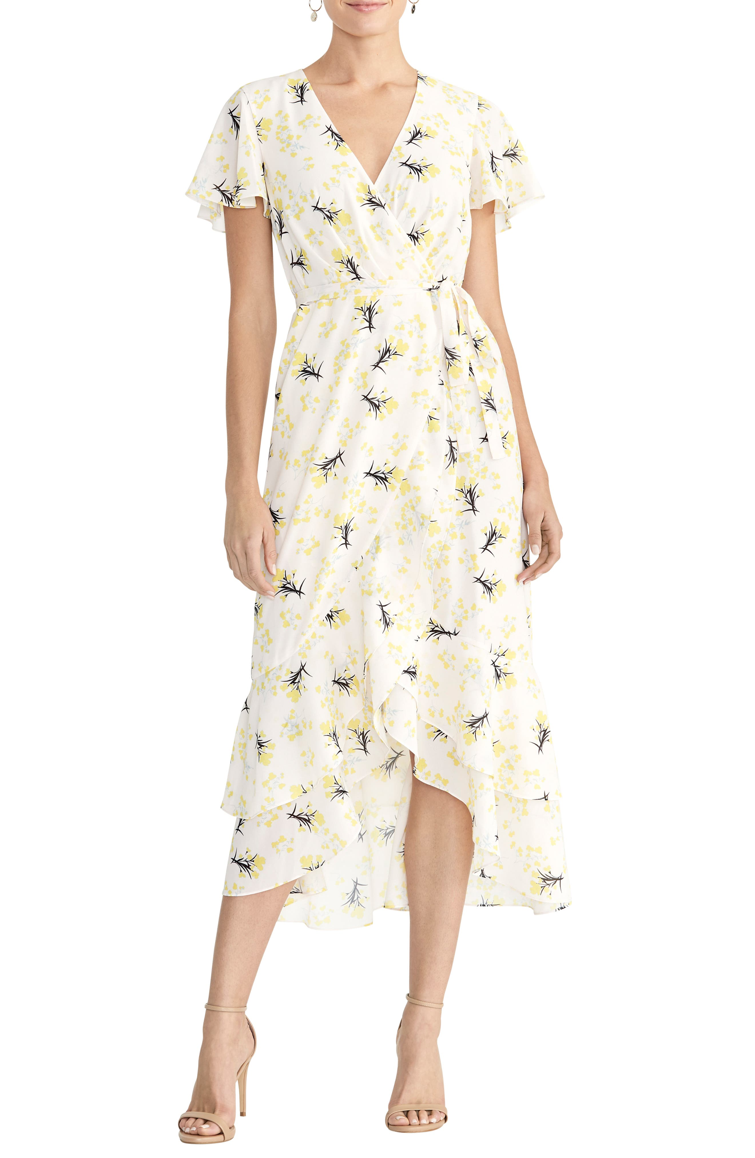 1930s Day Dresses, Afternoon Dresses History Womens Rachel Rachel Roy Faux Wrap Midi Dress $149.00 AT vintagedancer.com