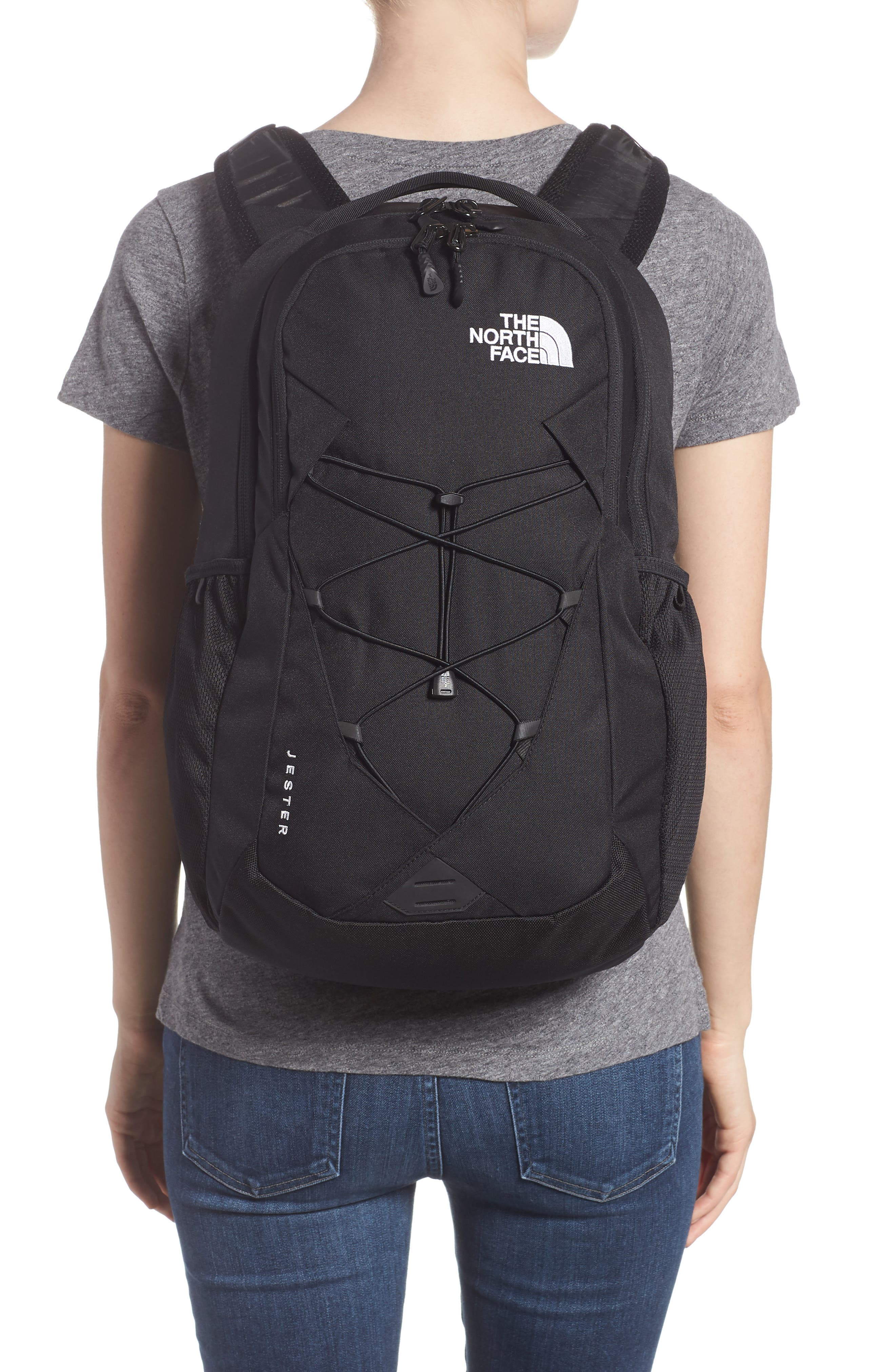 THE NORTH FACE, 'Jester' Backpack, Alternate thumbnail 2, color, TNF BLACK