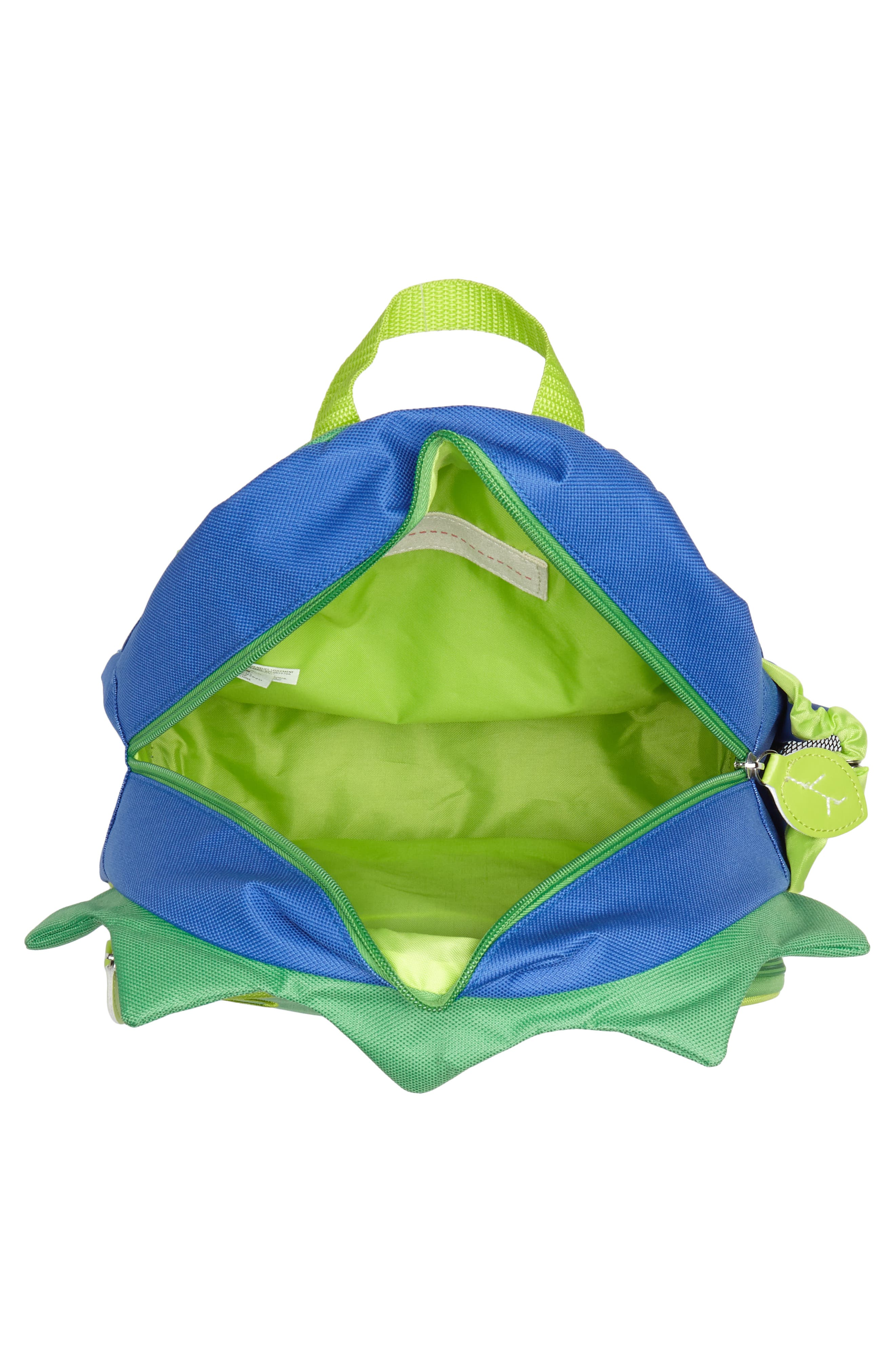 SKIP HOP, Zoo Pack Backpack, Alternate thumbnail 3, color, GREEN/ BLUE