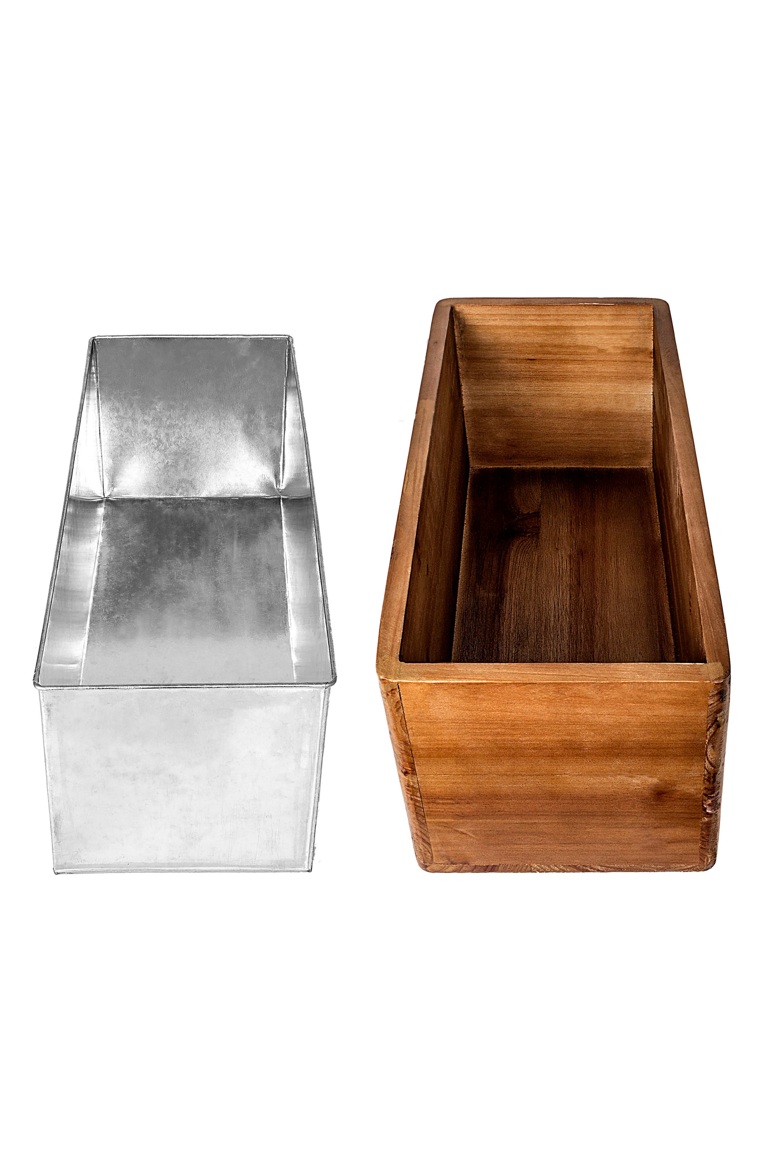 CATHY'S CONCEPTS, Wooden Wine Trough, Alternate thumbnail 5, color, ANCHOR