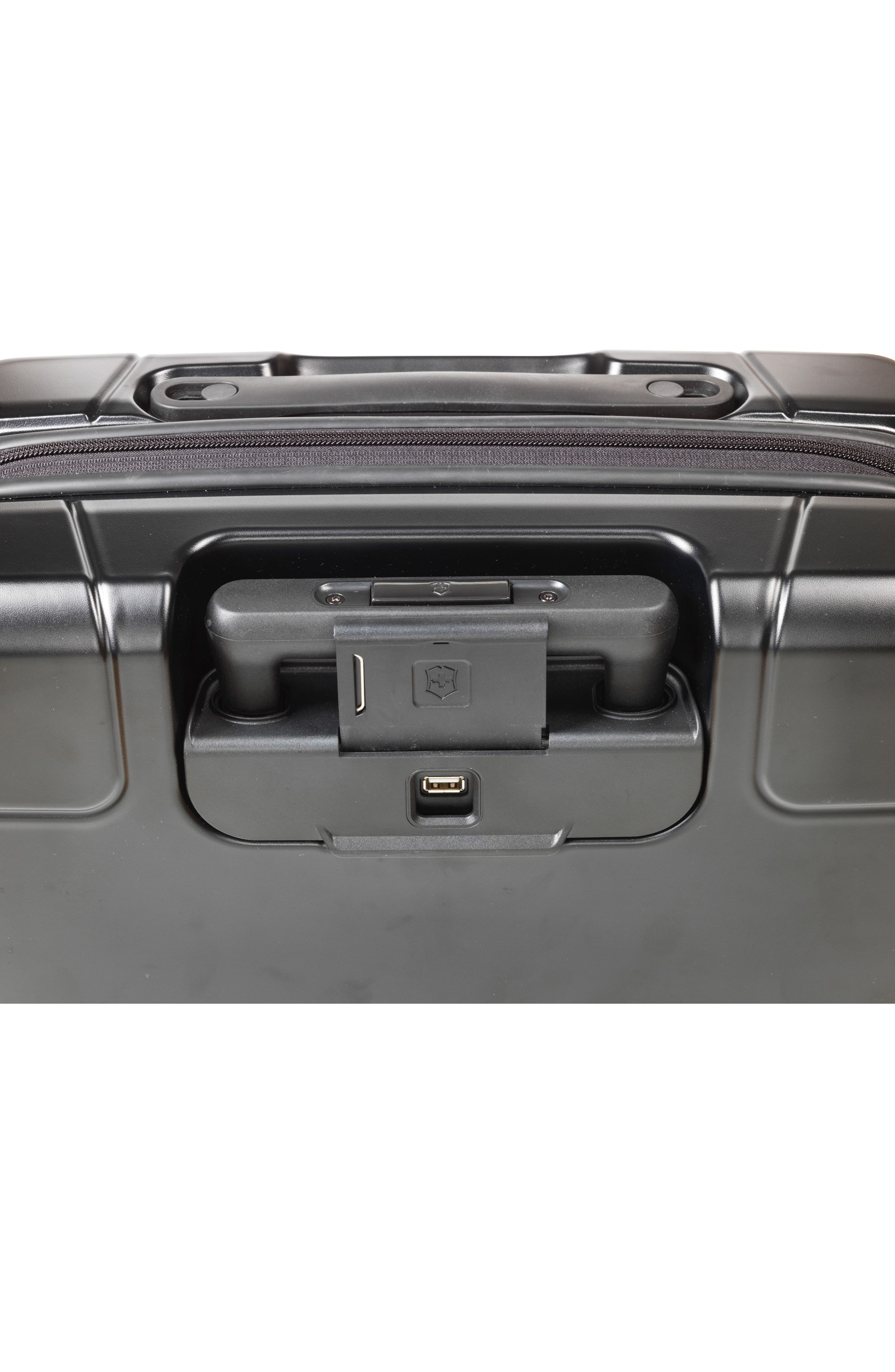 VICTORINOX SWISS ARMY<SUP>®</SUP>, Lexicon Frequent Flyer 22-Inch Wheeled Carry-On, Alternate thumbnail 4, color, BLACK
