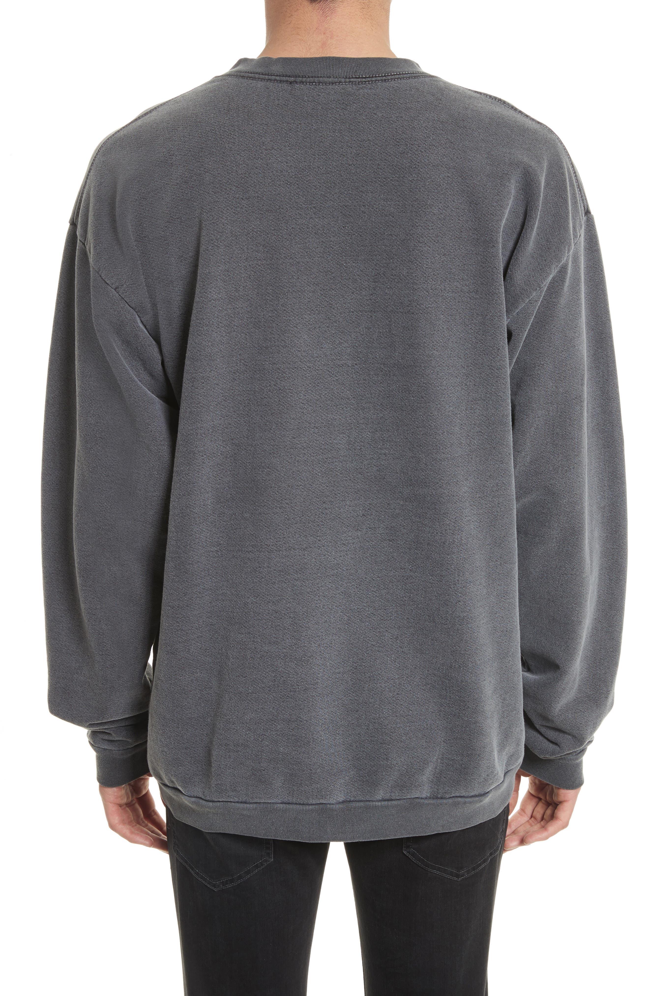 DRIFTER, Norton Sweatshirt, Alternate thumbnail 2, color, BLACK