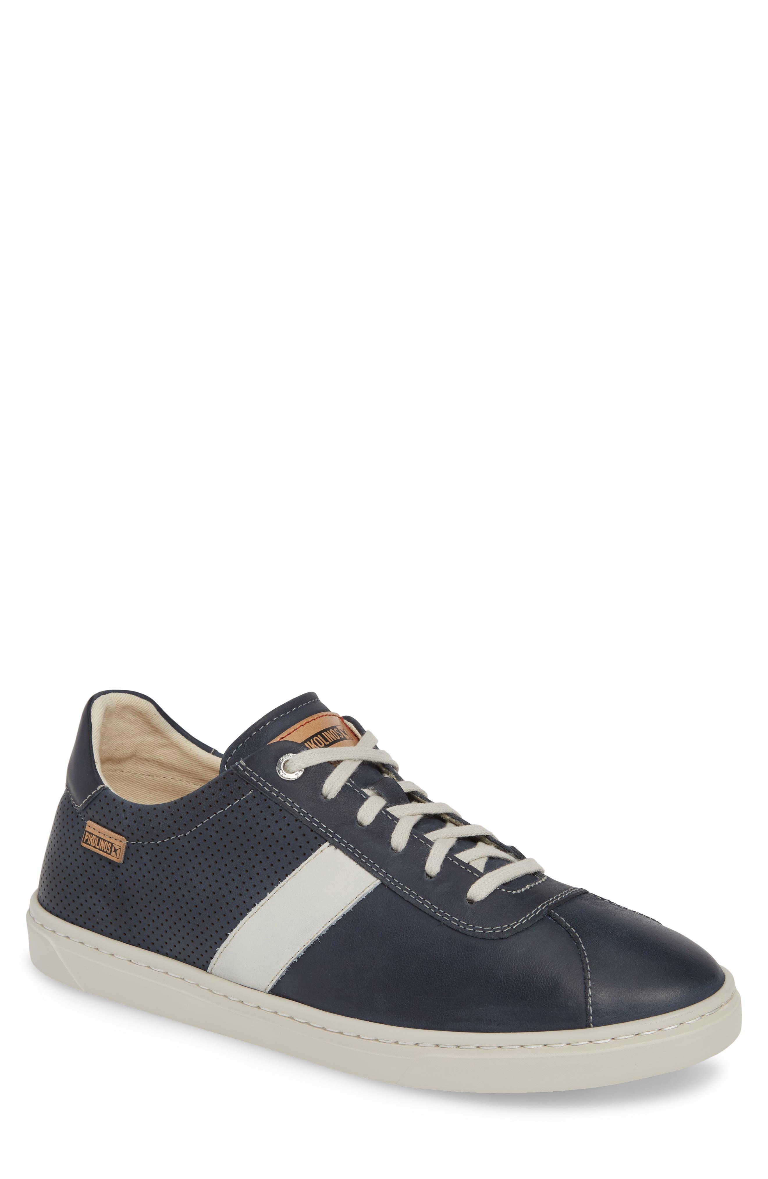 PIKOLINOS, Belfort Perforated Sneaker, Main thumbnail 1, color, BLUE