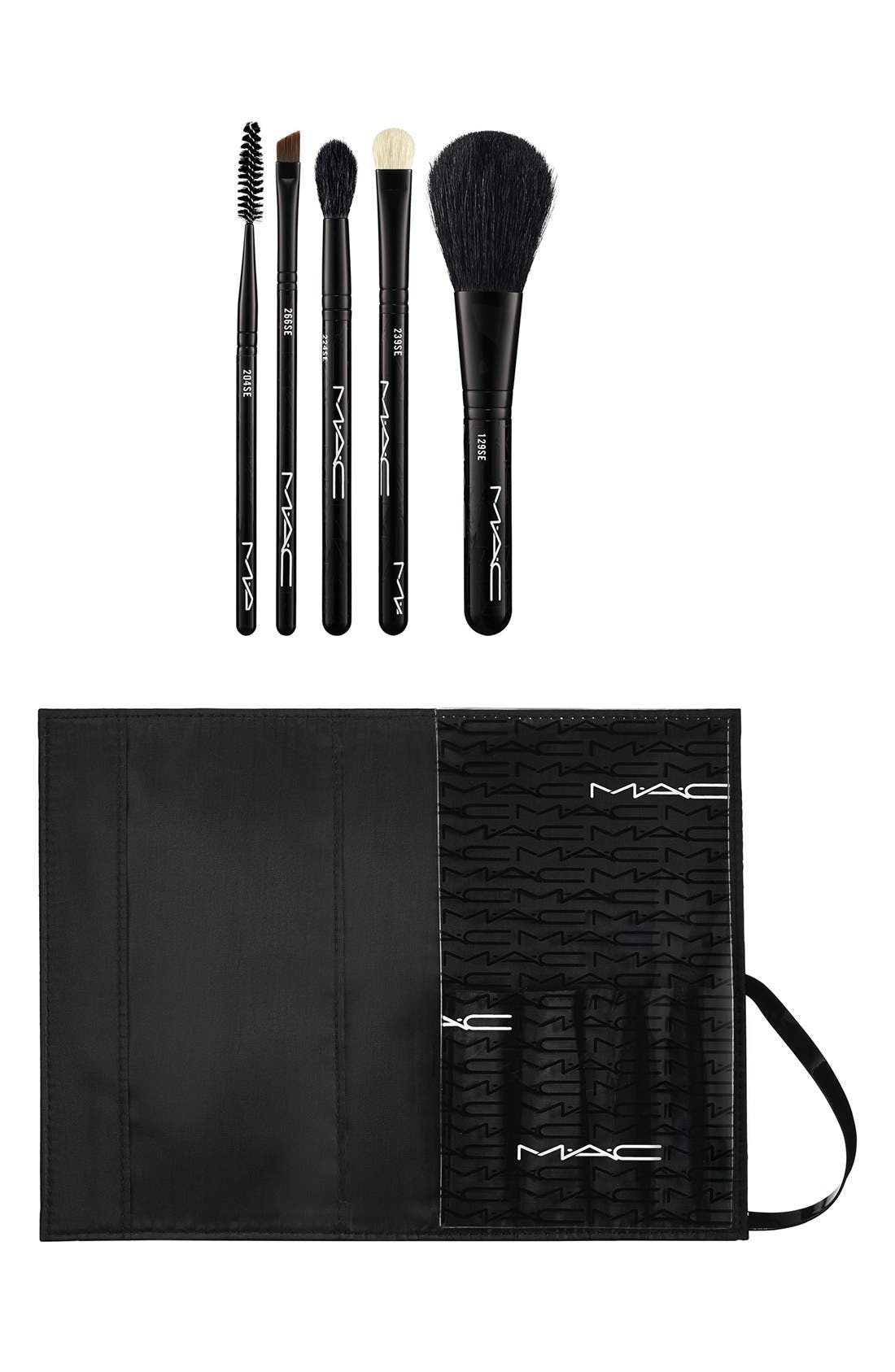 MAC COSMETICS, M·A·C 'Look in a Box - Basic Brush' Kit, Main thumbnail 1, color, 000