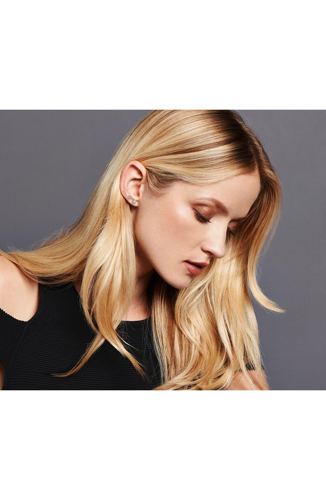 DANA REBECCA DESIGNS, 'Lauren Joy' Diamond Disc Stud Earrings, Alternate thumbnail 8, color, WHITE GOLD