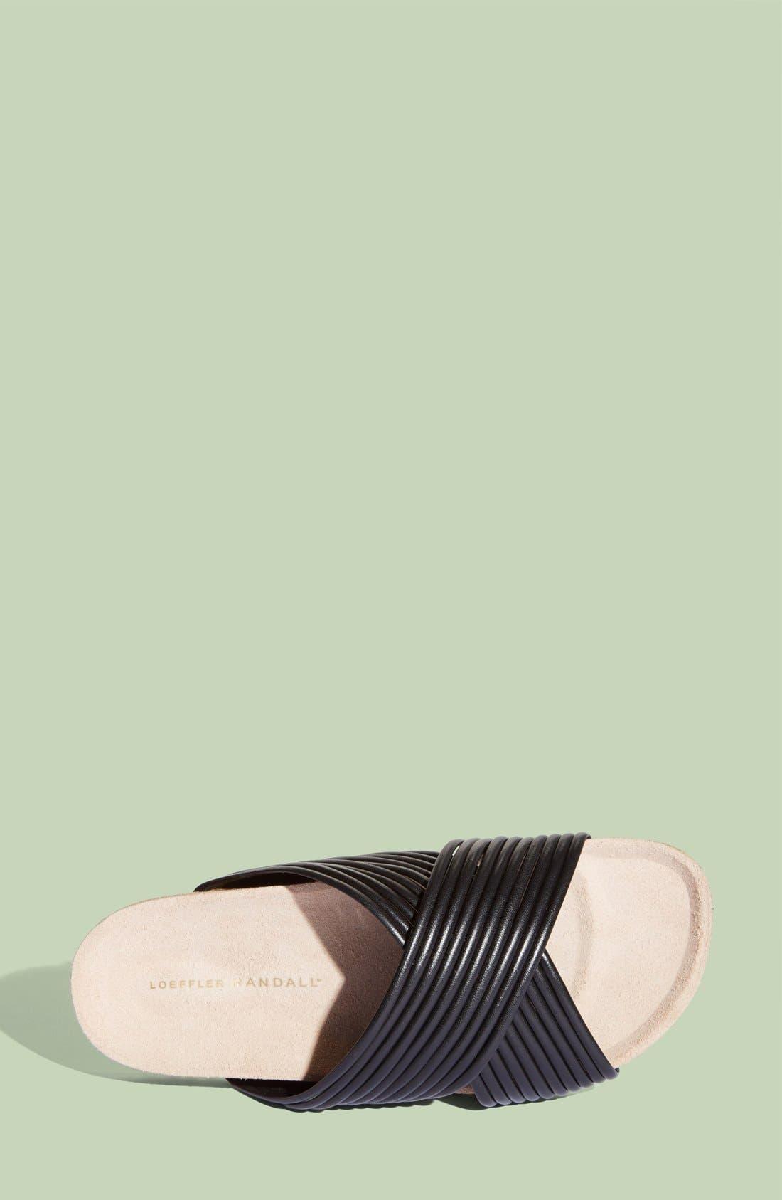 LOEFFLER RANDALL, 'Petra' Slide Footbed Sandal, Alternate thumbnail 3, color, 001