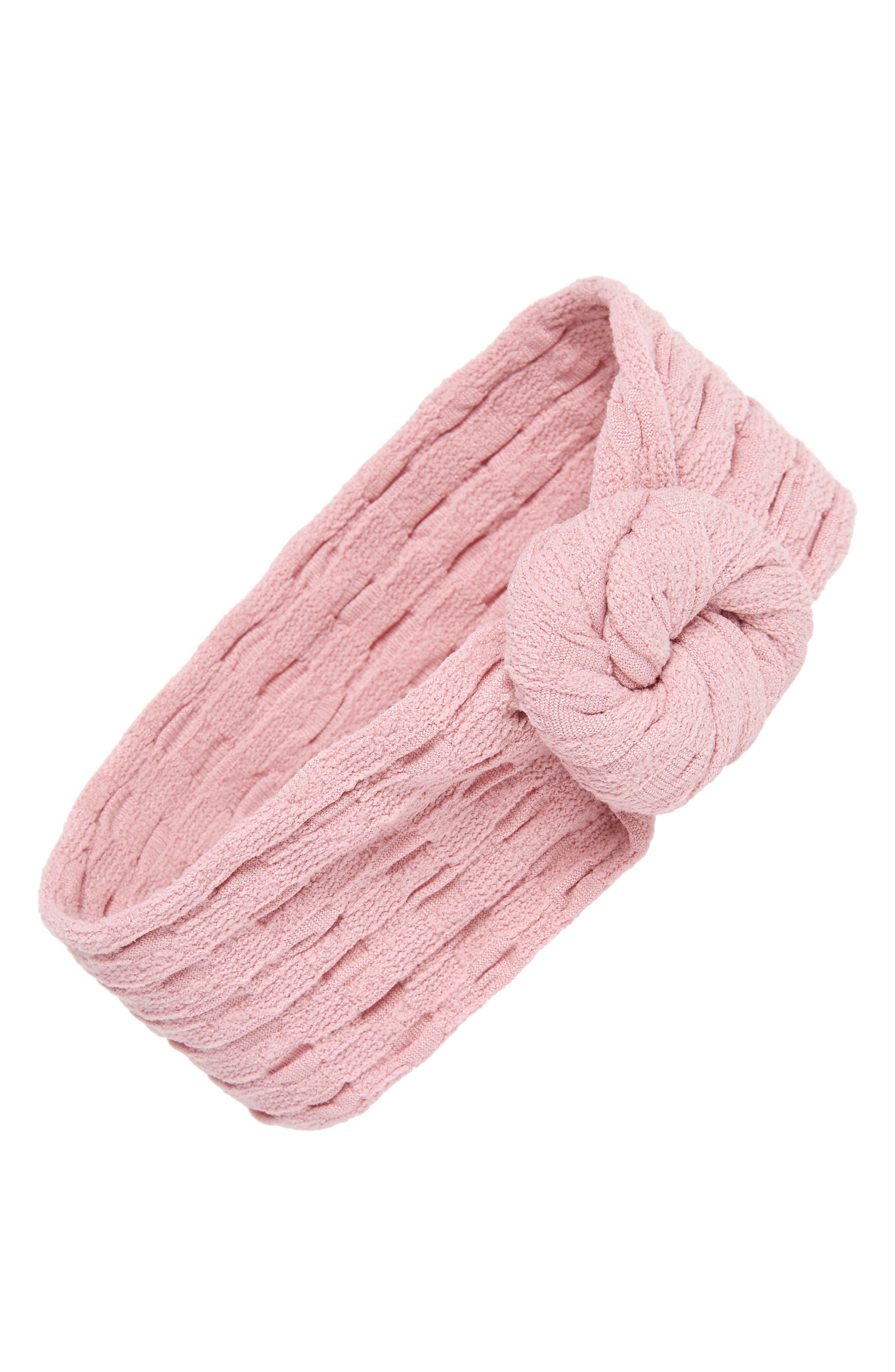 BABY BLING Waffle Bun Headband, Main, color, 650