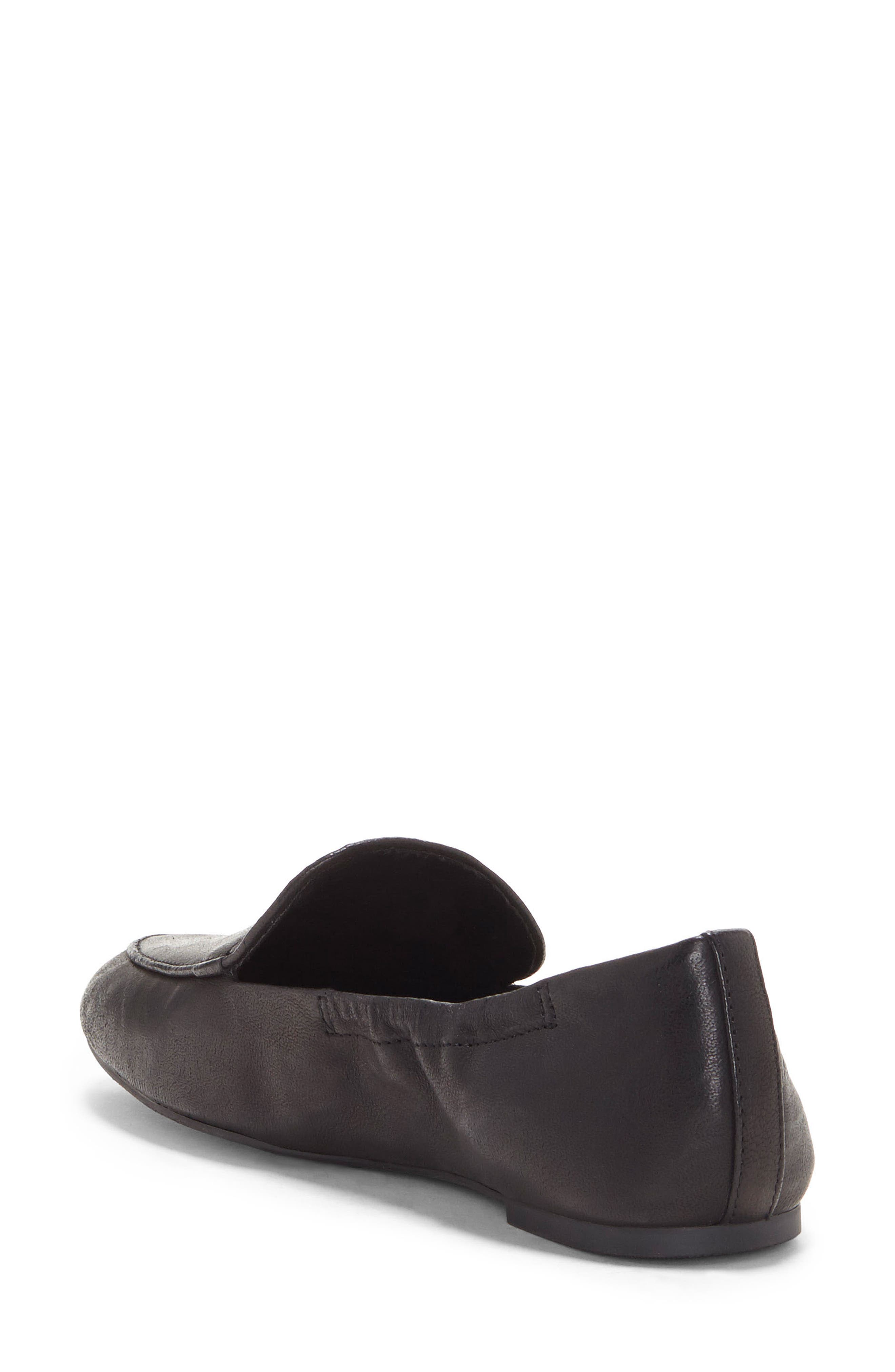 LUCKY BRAND, Bellana Loafer, Alternate thumbnail 2, color, BLACK LEATHER
