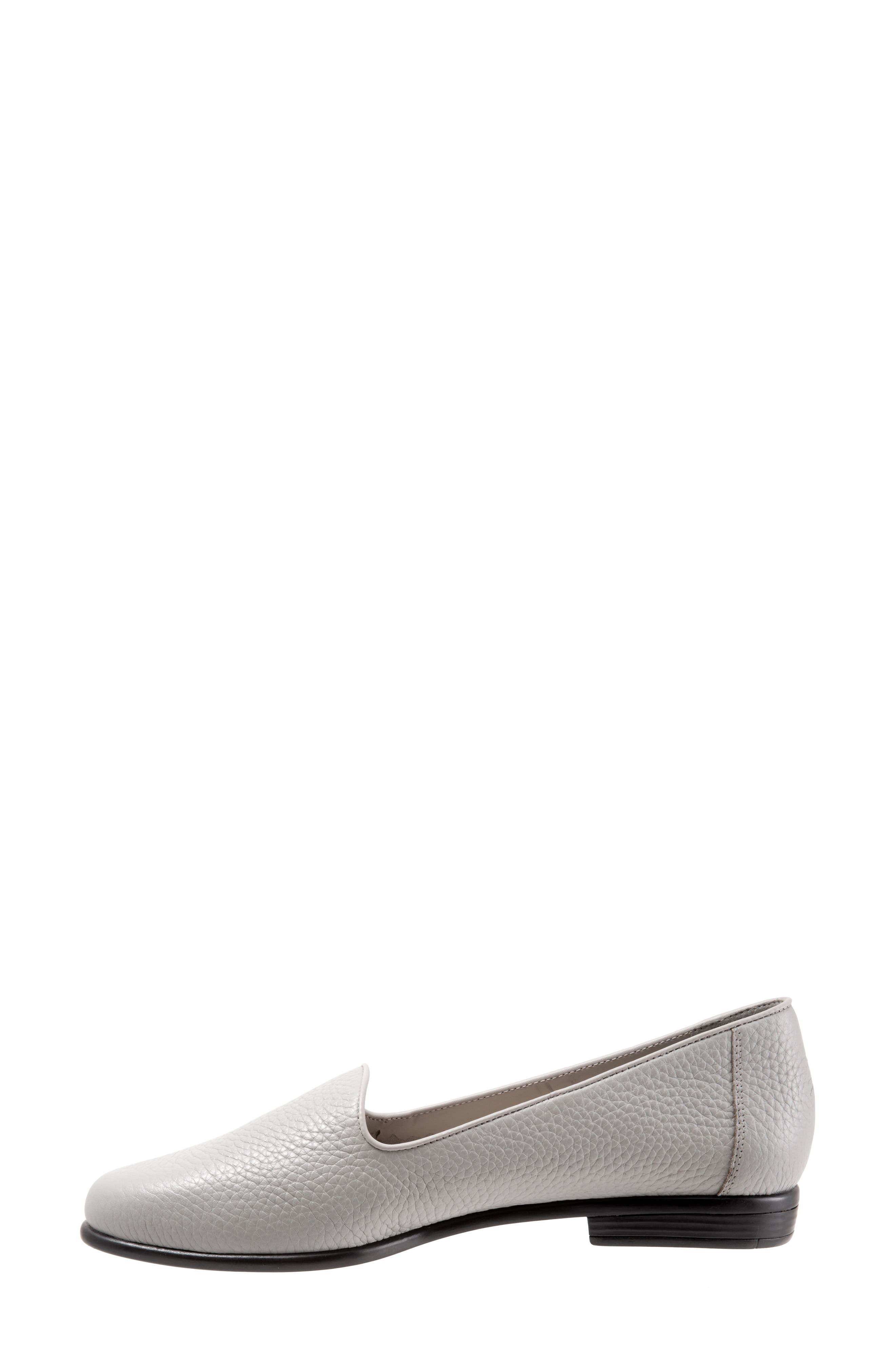 TROTTERS, Liz Loafer, Alternate thumbnail 8, color, GREY LEATHER