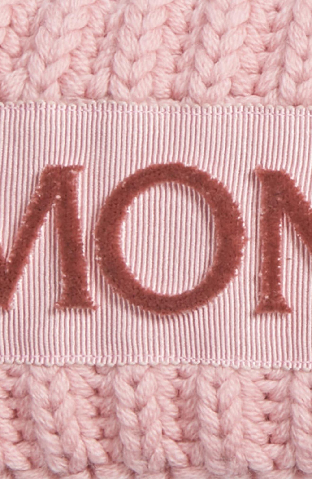 MONCLER, Rib Knit Headband, Alternate thumbnail 2, color, 662