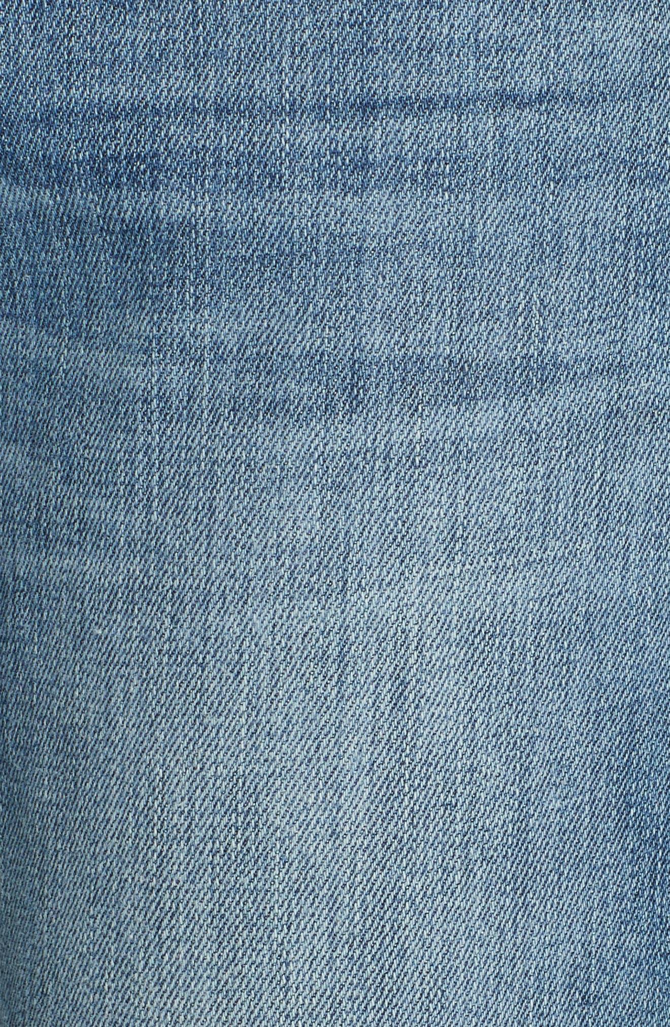 FRAME, Le Boy Distressed Boyfriend Jeans, Alternate thumbnail 6, color, BECKHAM