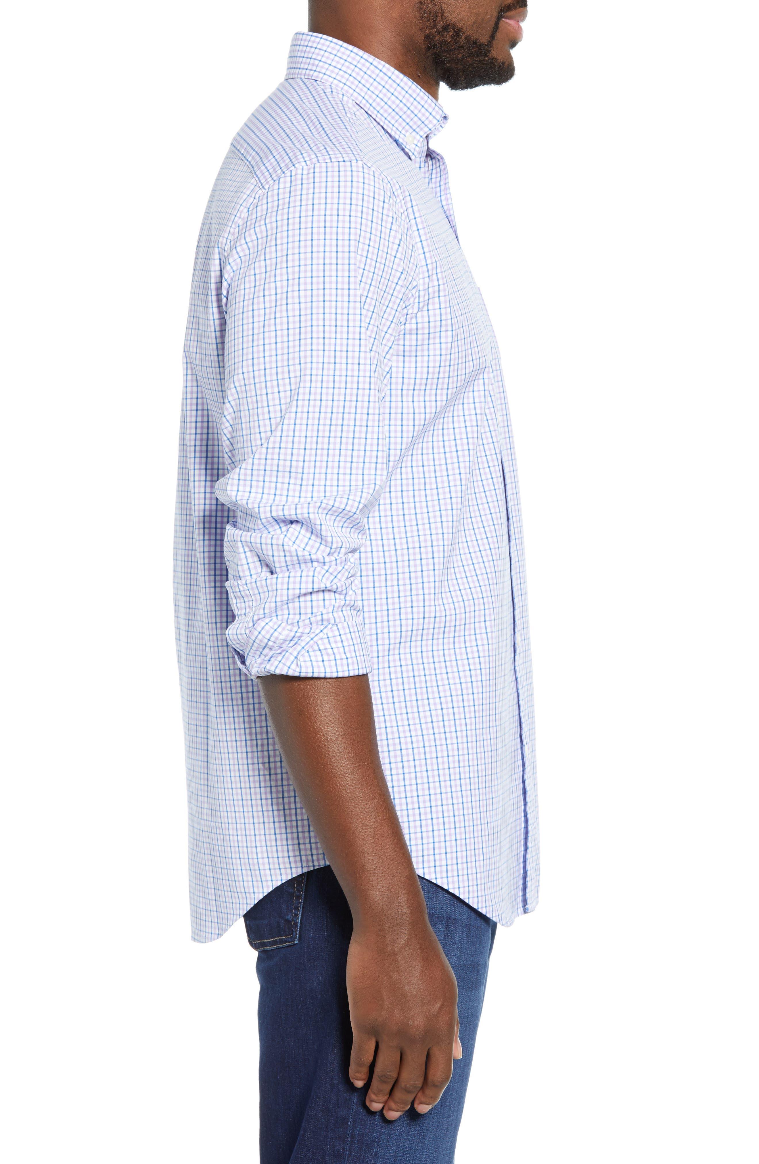 VINEYARD VINES, Tucker Regular Fit Balter Tattersall Sport Shirt, Alternate thumbnail 4, color, SEA URCHIN