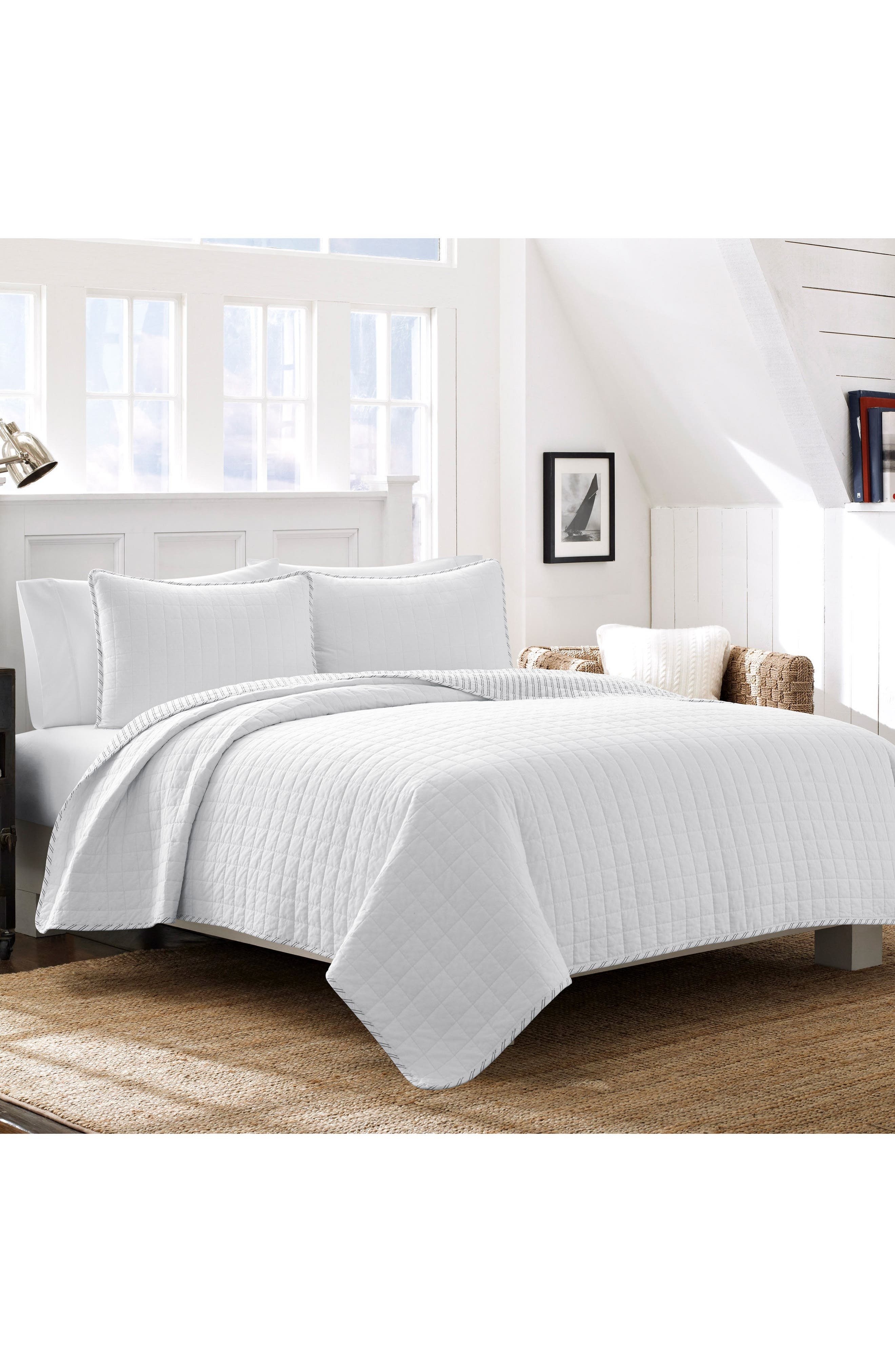 NAUTICA, Maywood Quilt & Sham Set, Main thumbnail 1, color, WHITE