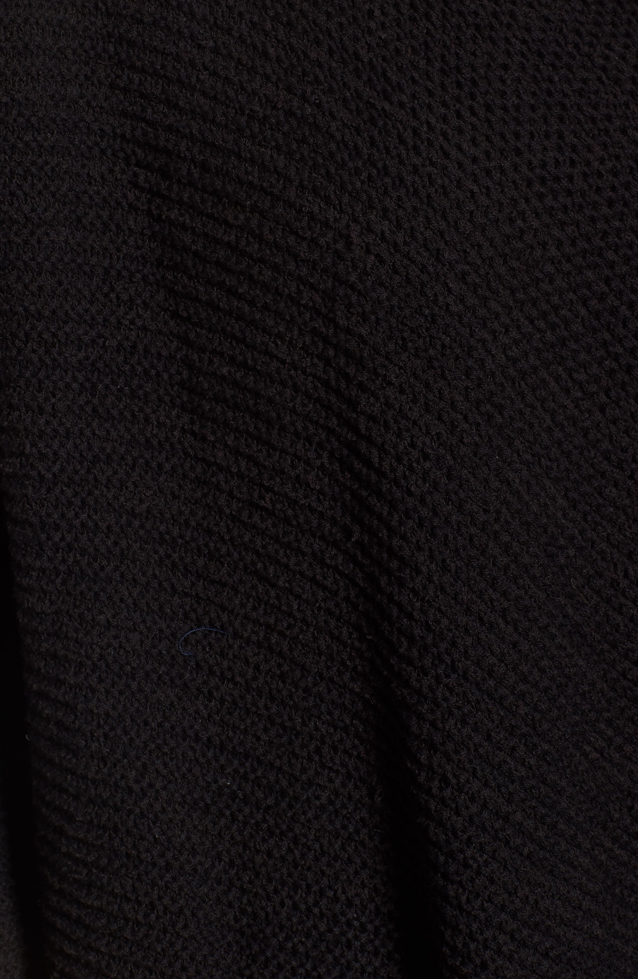 CASLON<SUP>®</SUP>, Drape Front Long Cardigan, Alternate thumbnail 5, color, 001