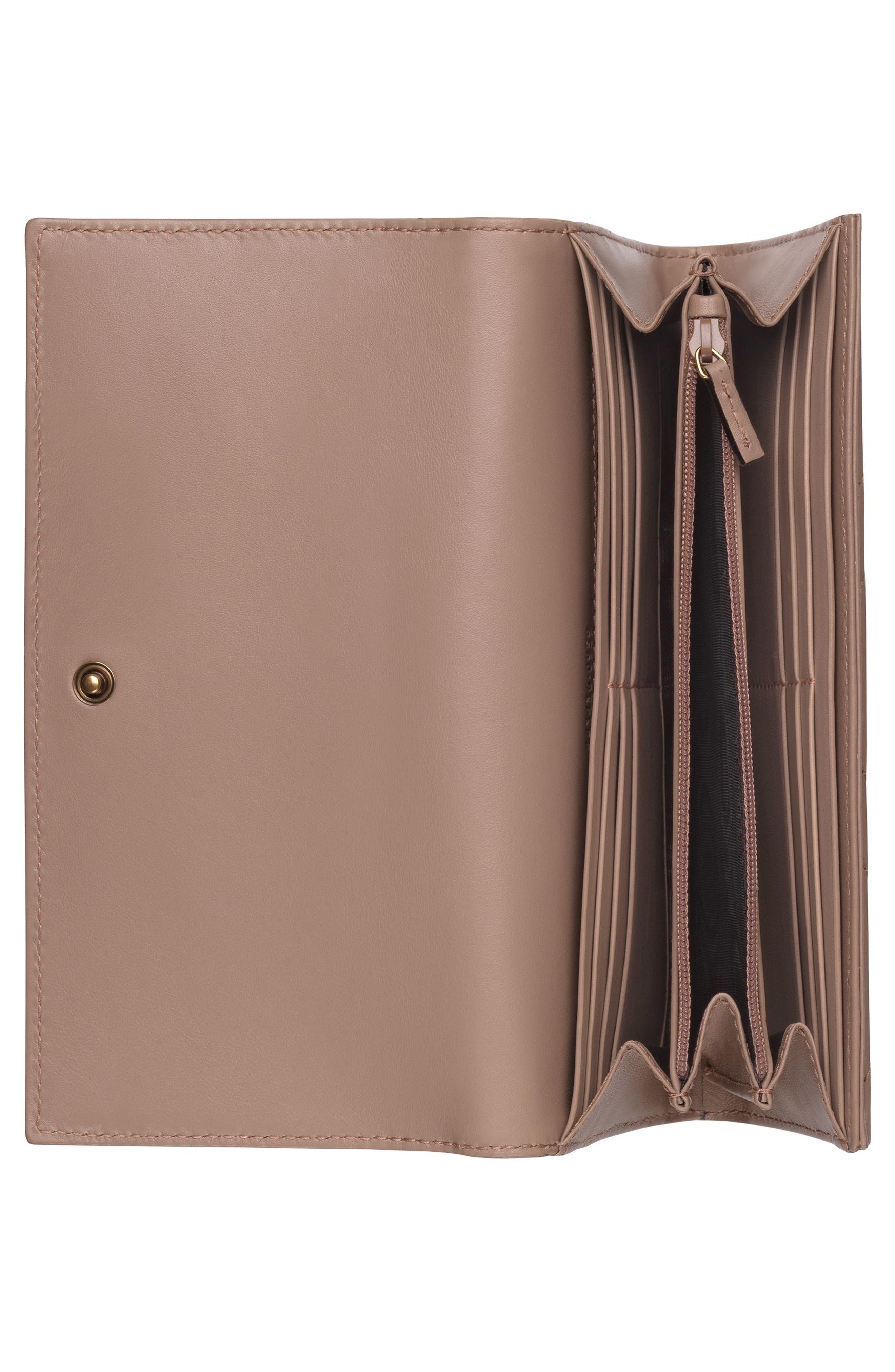 GUCCI, GG Marmont Matelassé Leather Continental Wallet, Alternate thumbnail 2, color, PORCELAIN ROSE