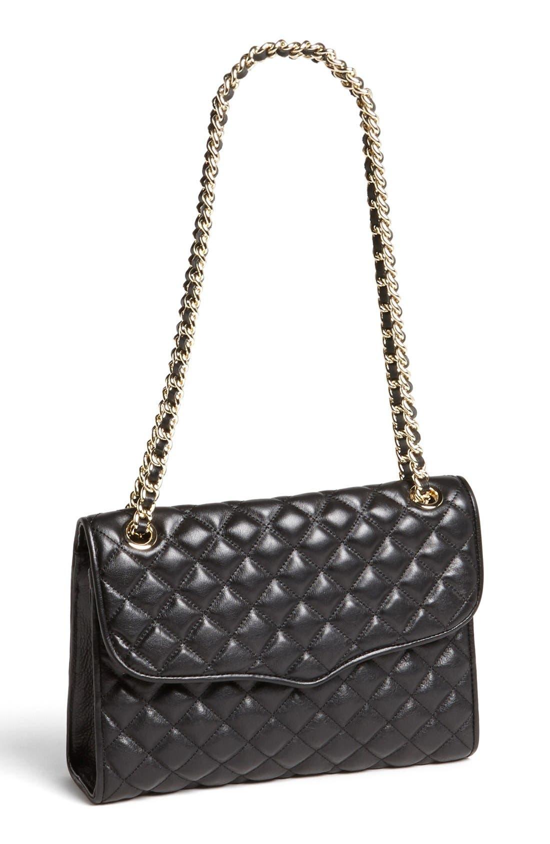REBECCA MINKOFF 'Quilted Affair' Shoulder Bag, Main, color, 001