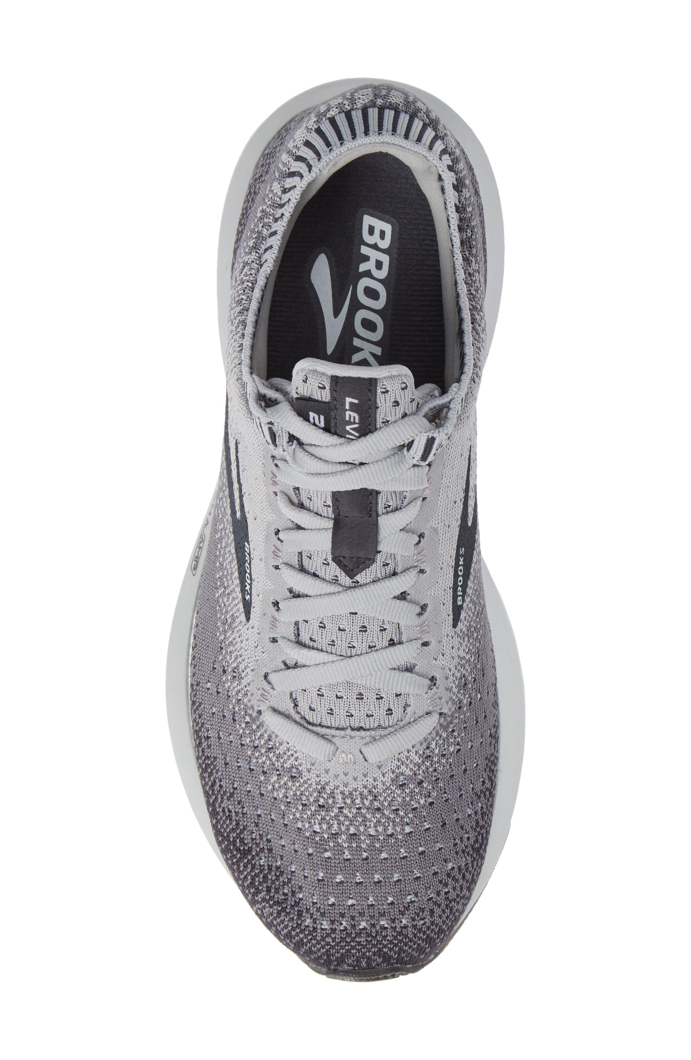 BROOKS, Levitate 2 Running Shoe, Alternate thumbnail 5, color, GREY/ EBONY/ WHITE