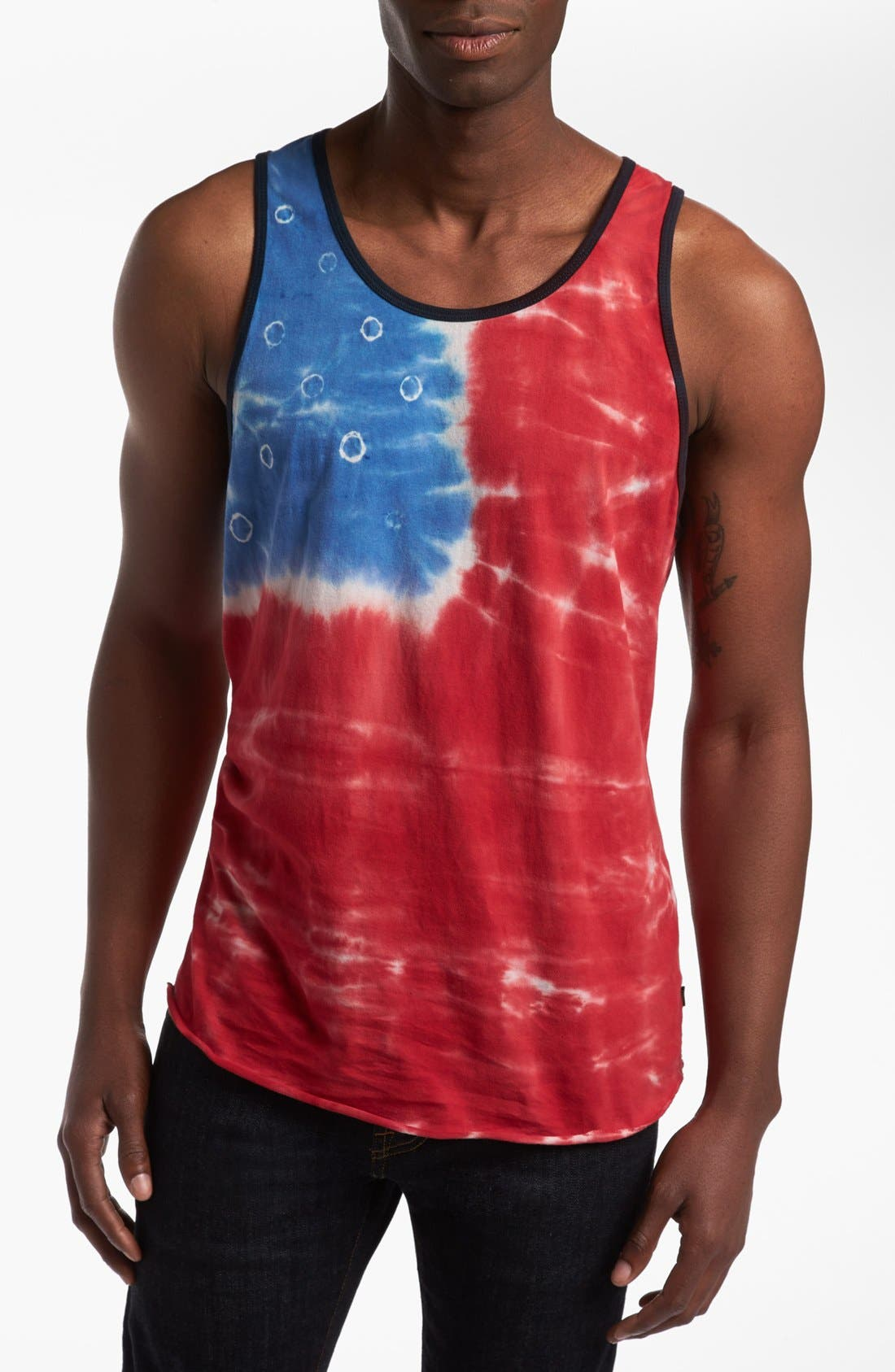 OBEY, 'American' Tank Top, Main thumbnail 1, color, 600