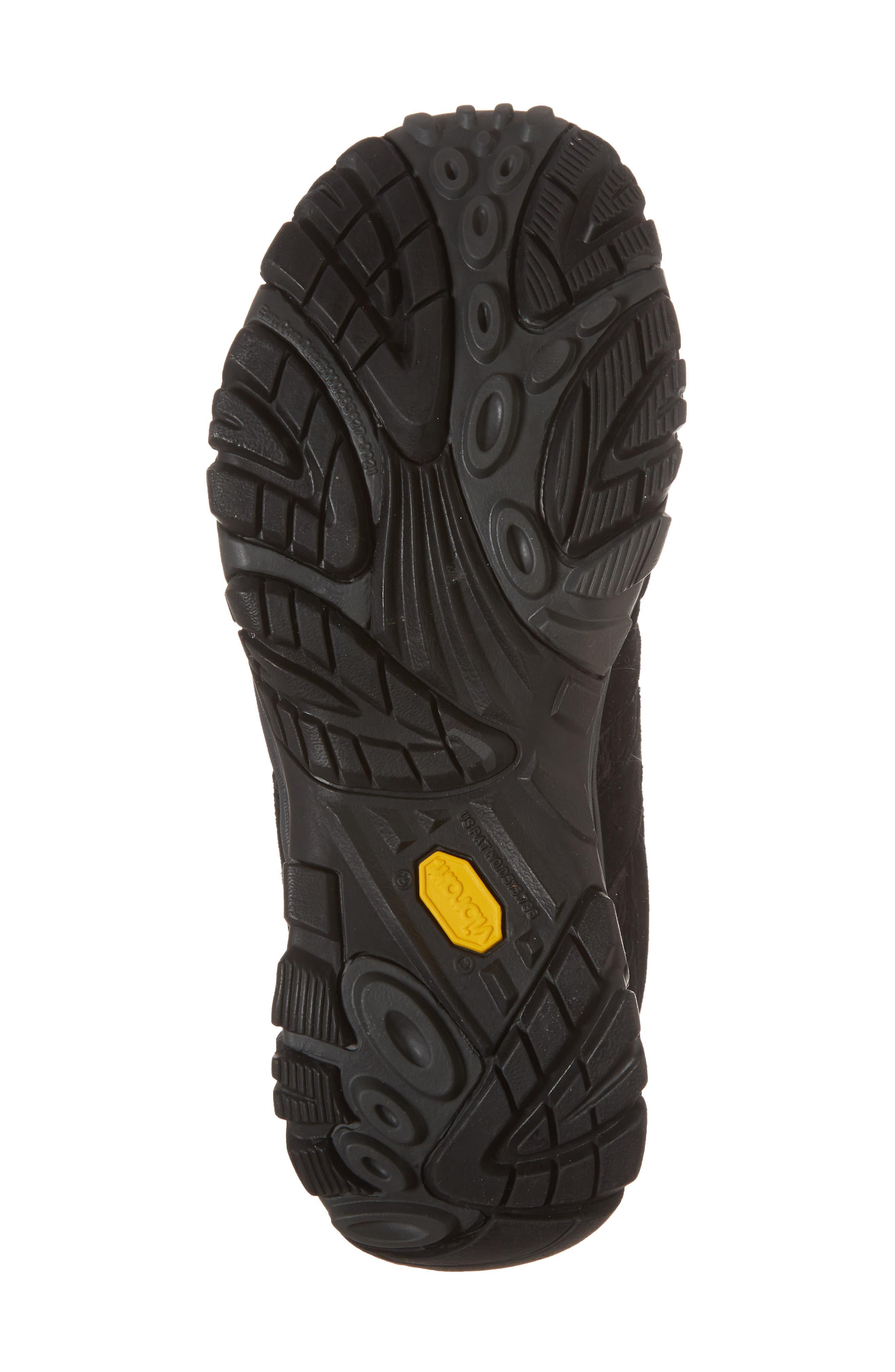 MERRELL, Moab 2 Ventilator Hiking Shoe, Alternate thumbnail 6, color, BLACK NIGHT