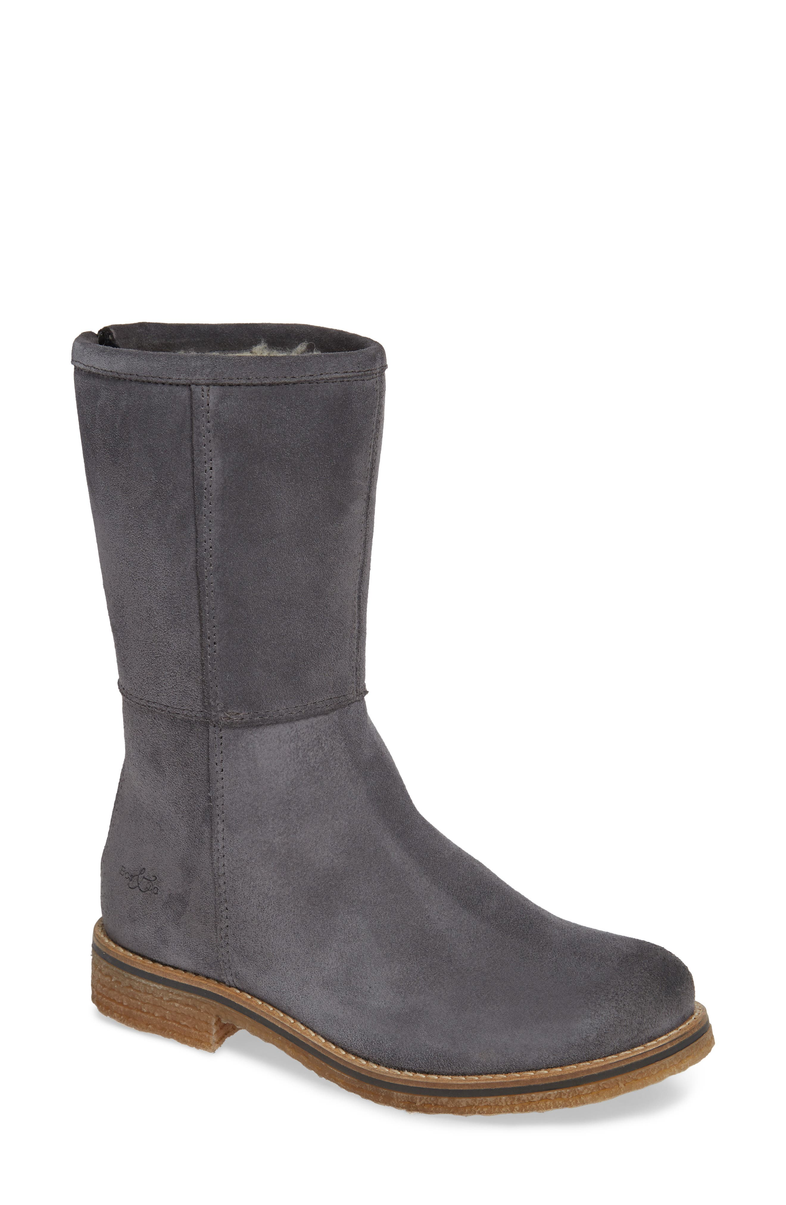 BOS. & CO., Bell Waterproof Winter Boot, Main thumbnail 1, color, GREY SUEDE