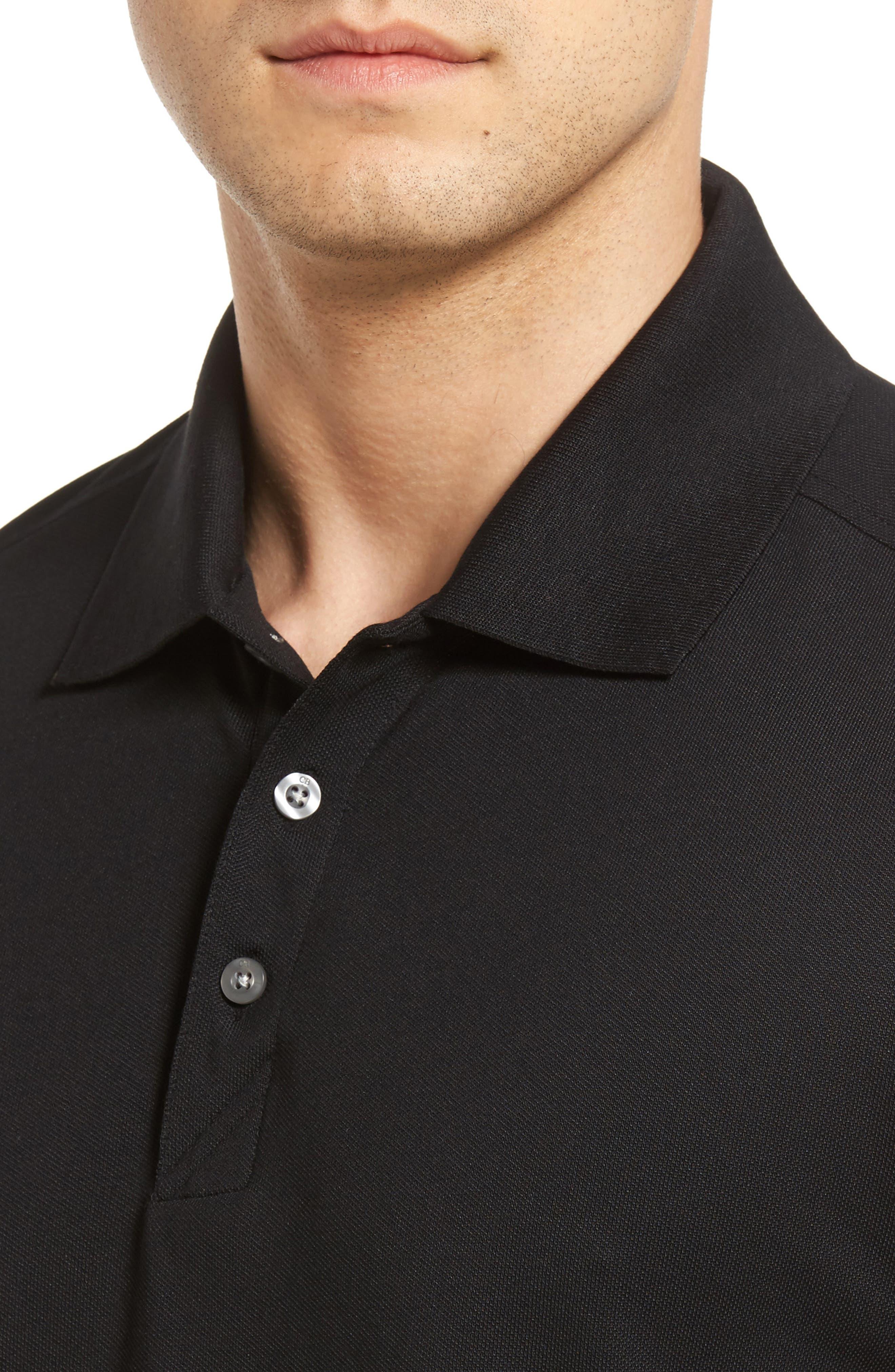 CUTTER & BUCK, Advantage Golf Polo, Alternate thumbnail 4, color, BLACK