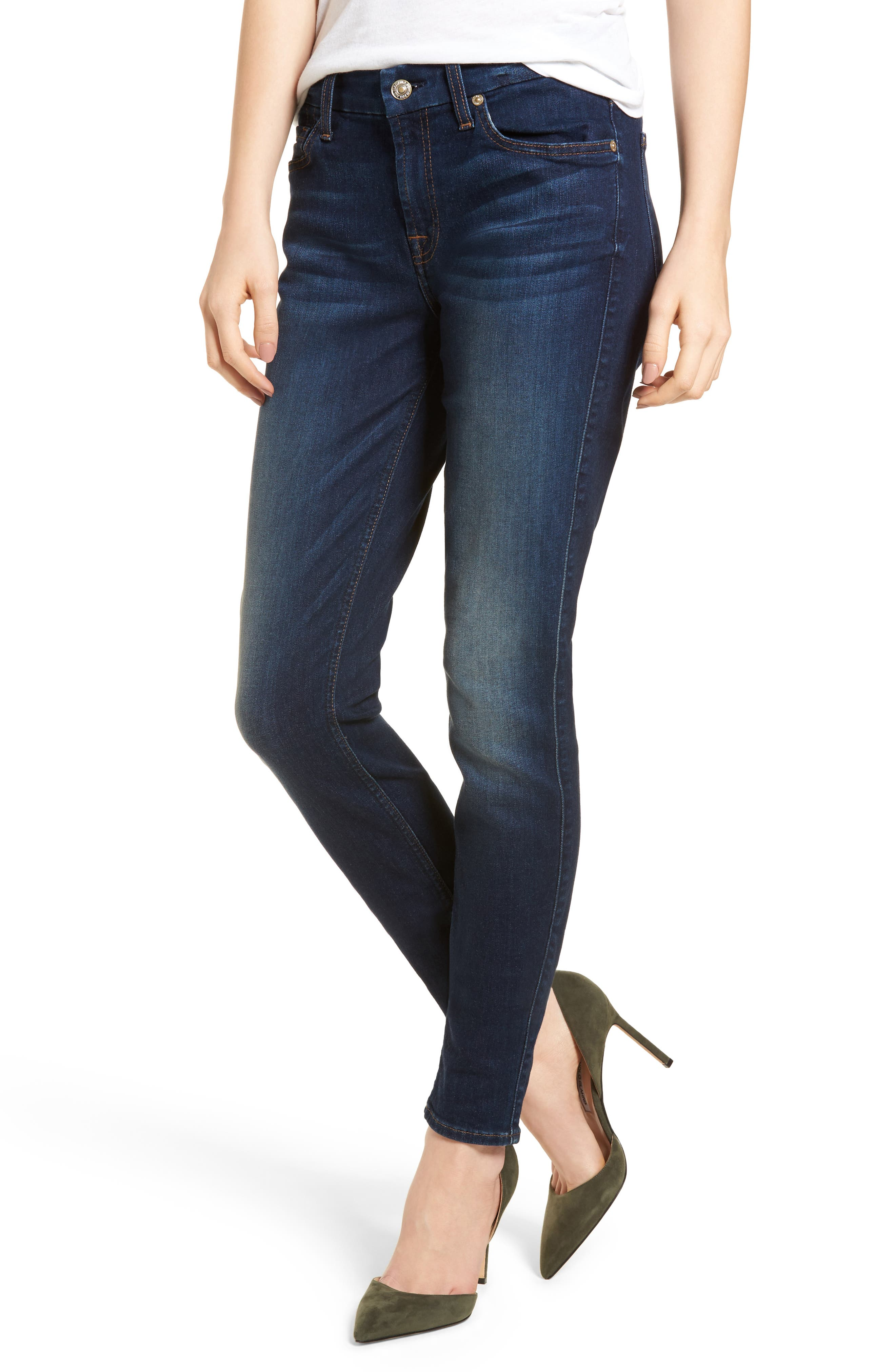 7 FOR ALL MANKIND<SUP>®</SUP>, b(air) High Waist Skinny Jeans, Main thumbnail 1, color, MORENO