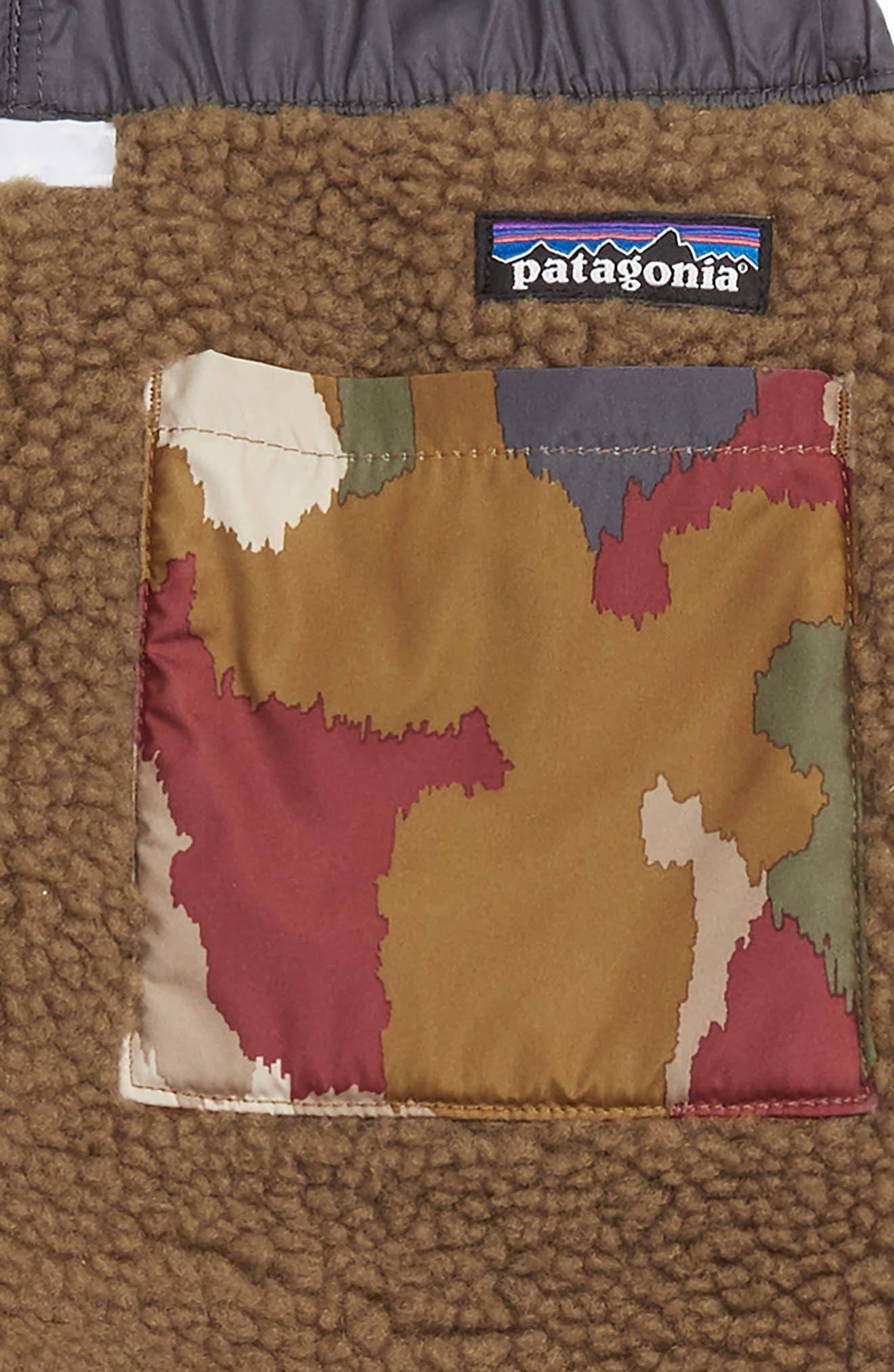 PATAGONIA, Tribbles Reversible Water Repellent Snow Pants, Alternate thumbnail 3, color, 200
