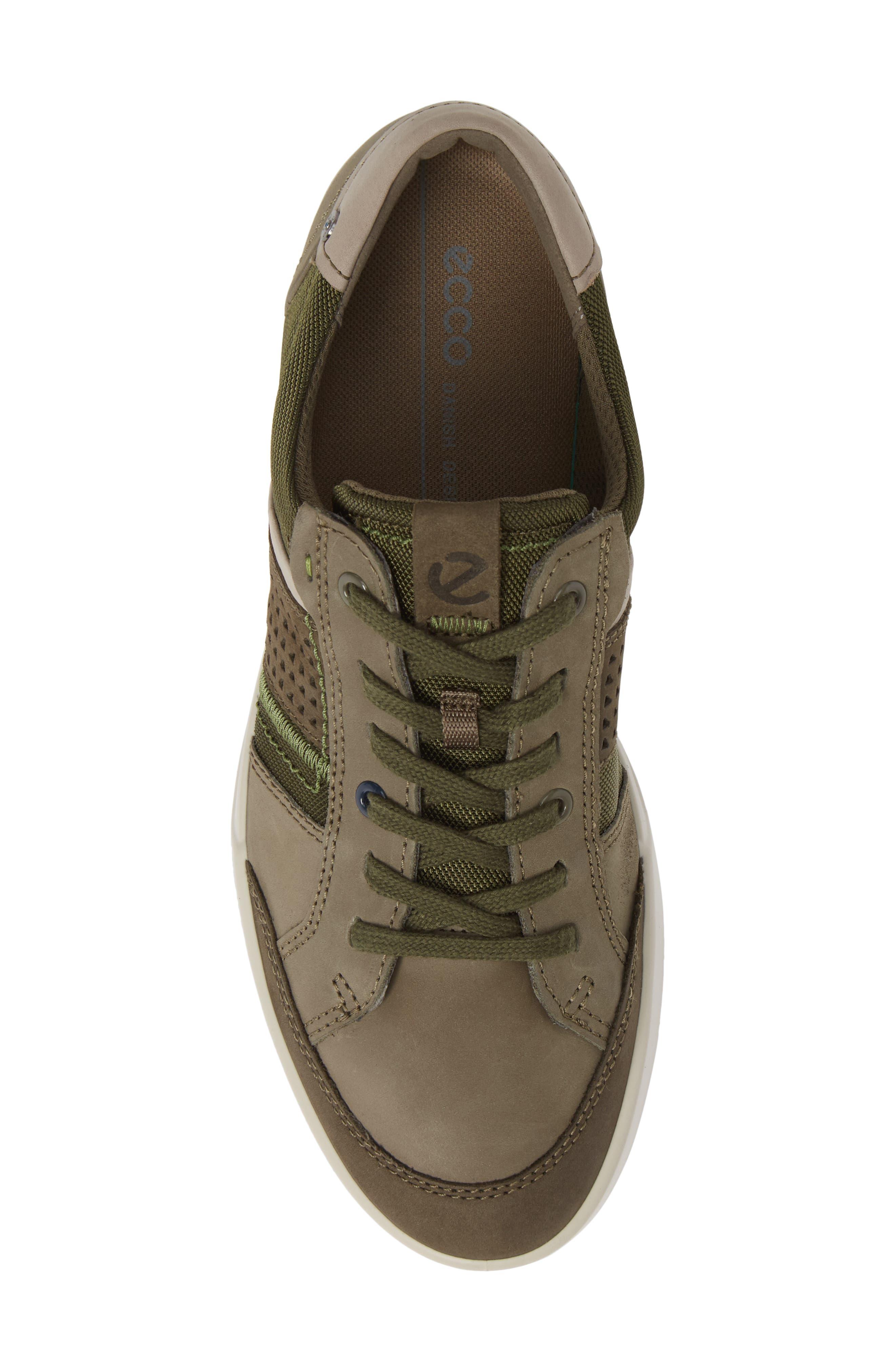 ECCO, Collin 2.0 Sneaker, Alternate thumbnail 5, color, TARMAC LEATHER