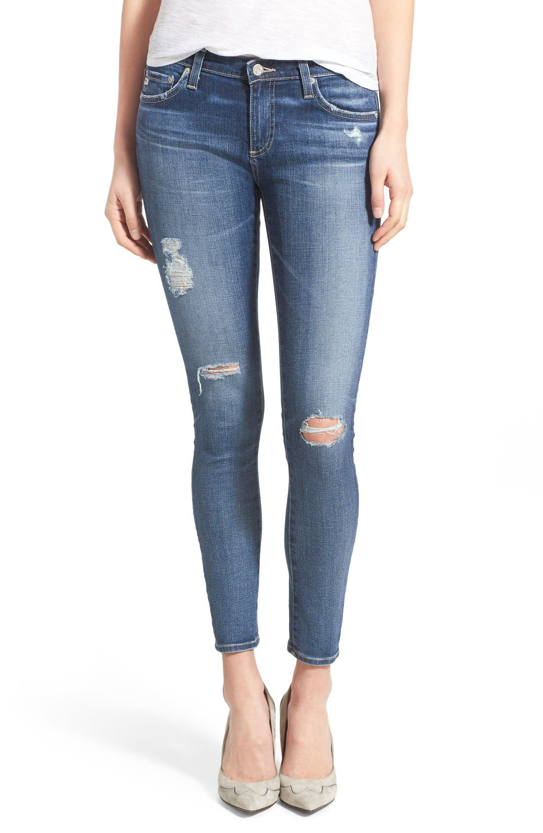 AG, The Legging Ankle Jeans, Main thumbnail 1, color, 11 YEAR SWAP MEET