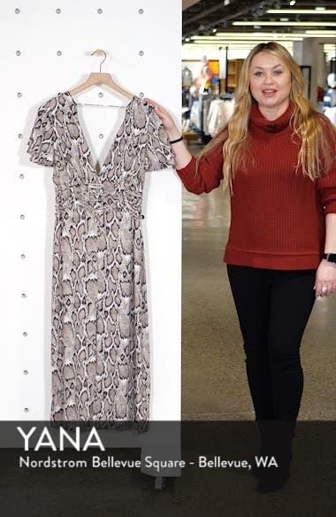 Carmen Corset Detail Print Dress, sales video thumbnail