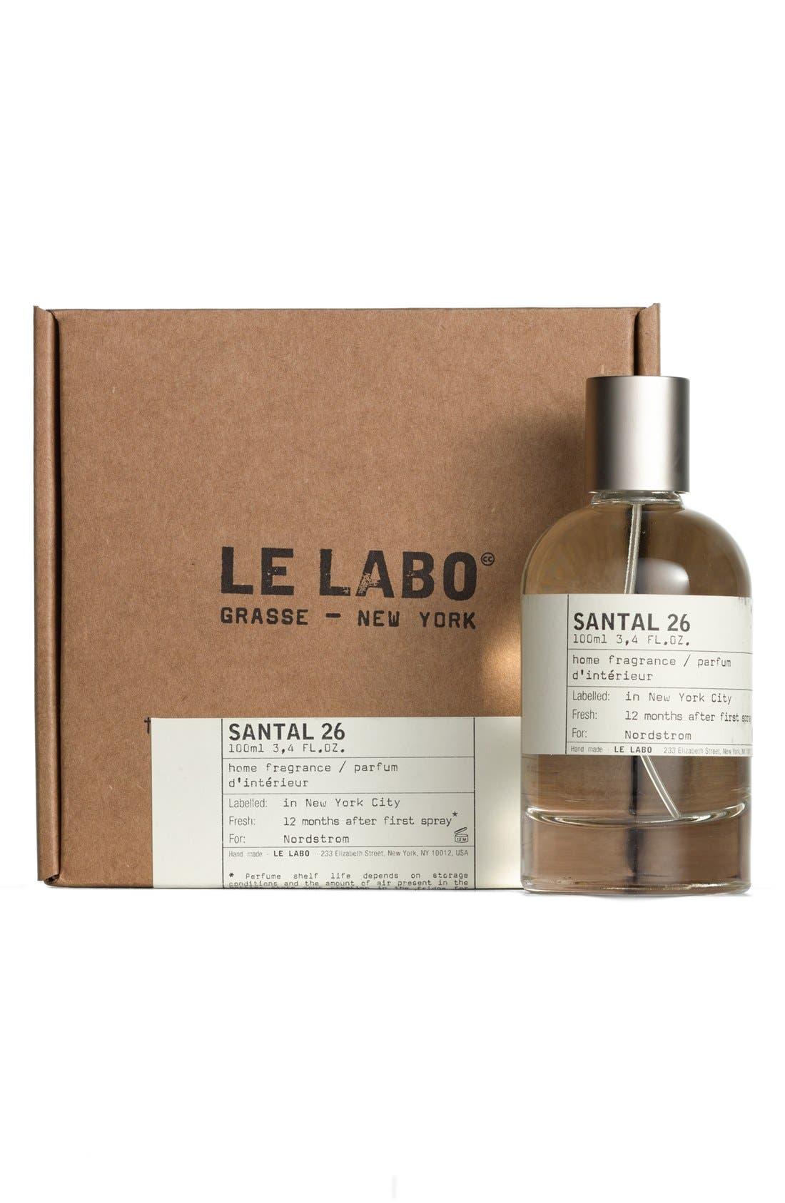 LE LABO, 'Santal 26' Home Fragrance Spray, Alternate thumbnail 4, color, NO COLOR