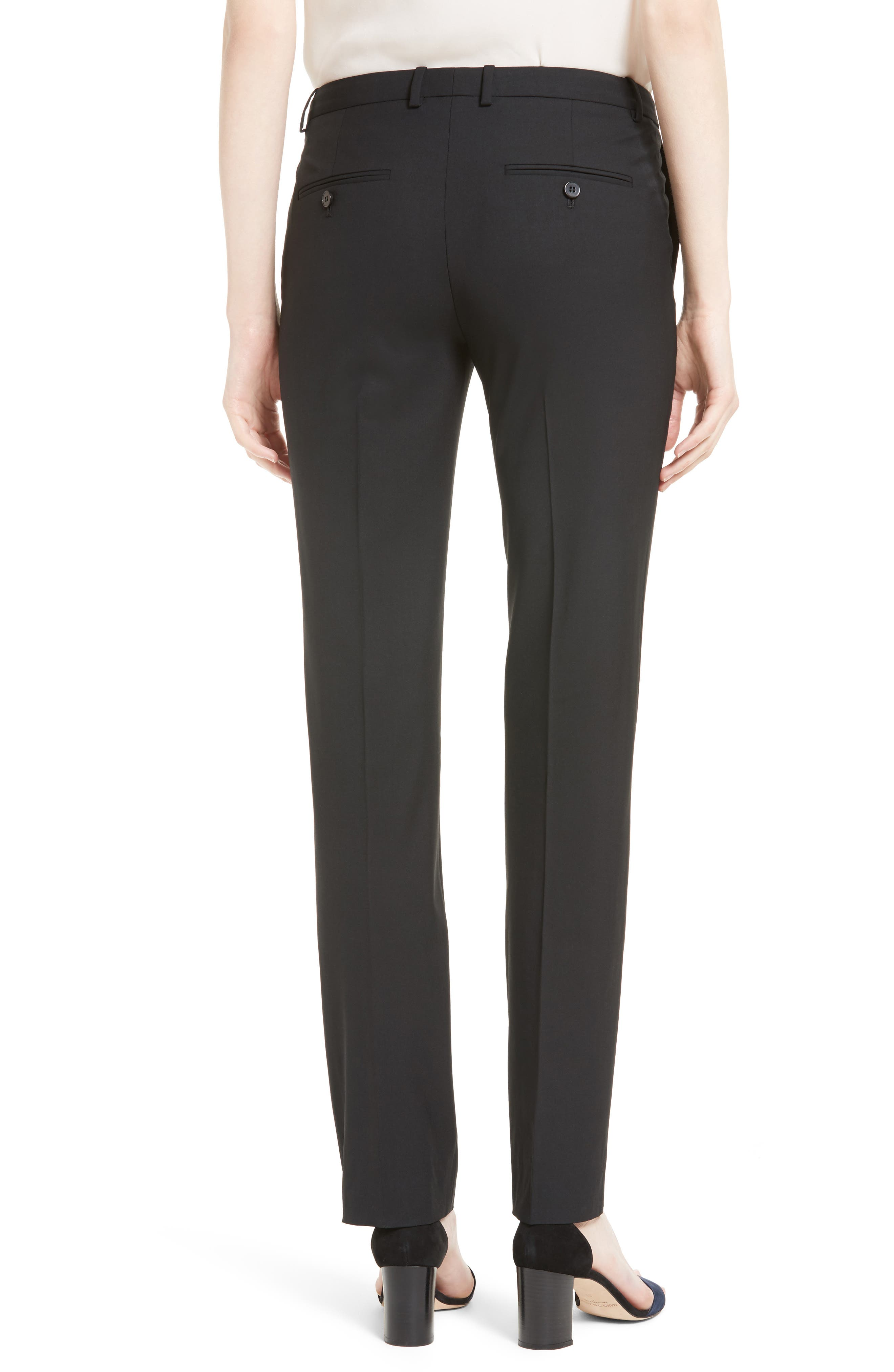 THEORY, Hartsdale B Good Wool Suit Pants, Alternate thumbnail 2, color, 001