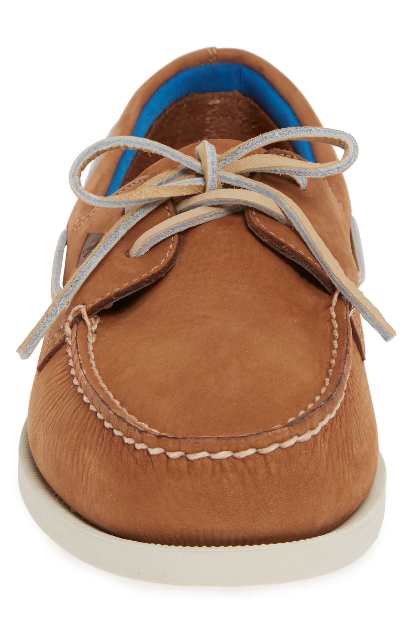 SPERRY, Authentic Original Plush Washable Boat Shoe, Alternate thumbnail 4, color, TAN