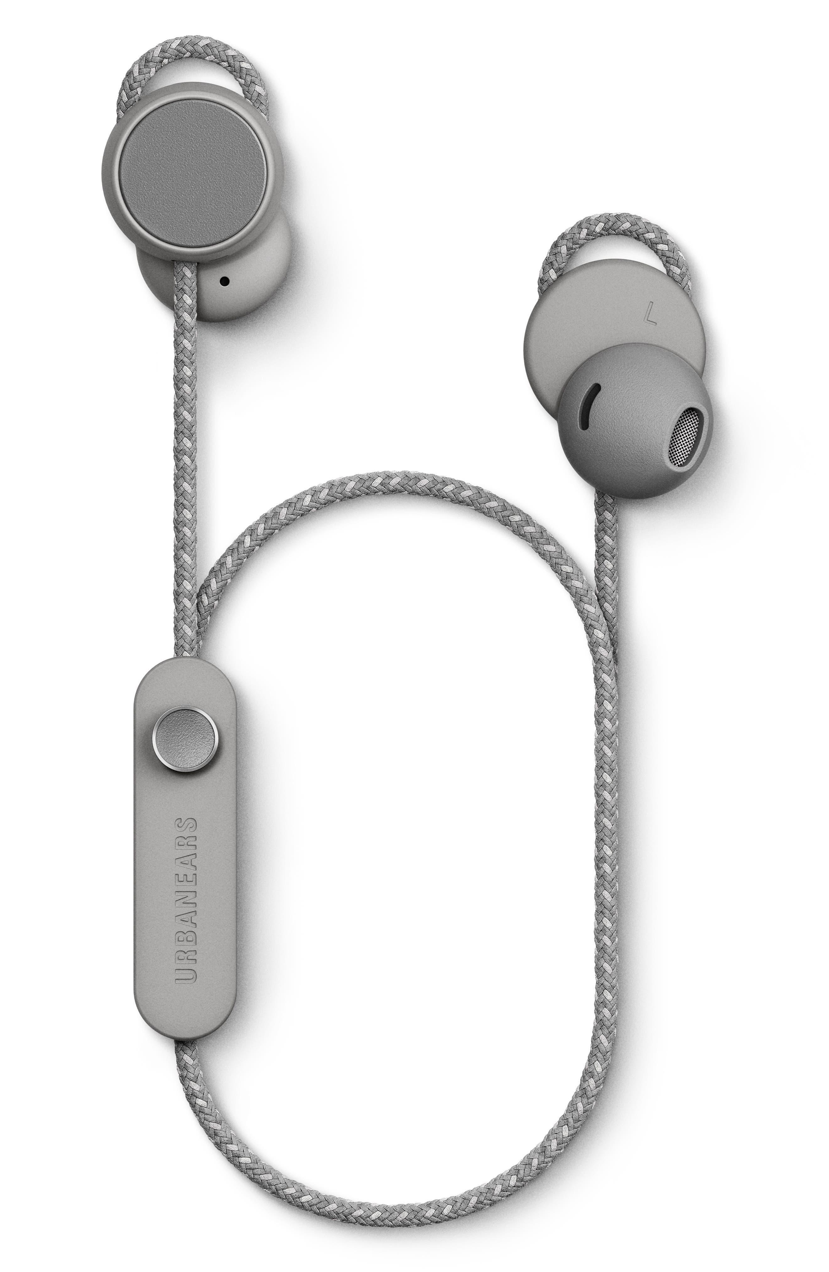 URBANEARS, Jakan Wireless Bluetooth In-Ear Headphones, Alternate thumbnail 5, color, ASH GREY