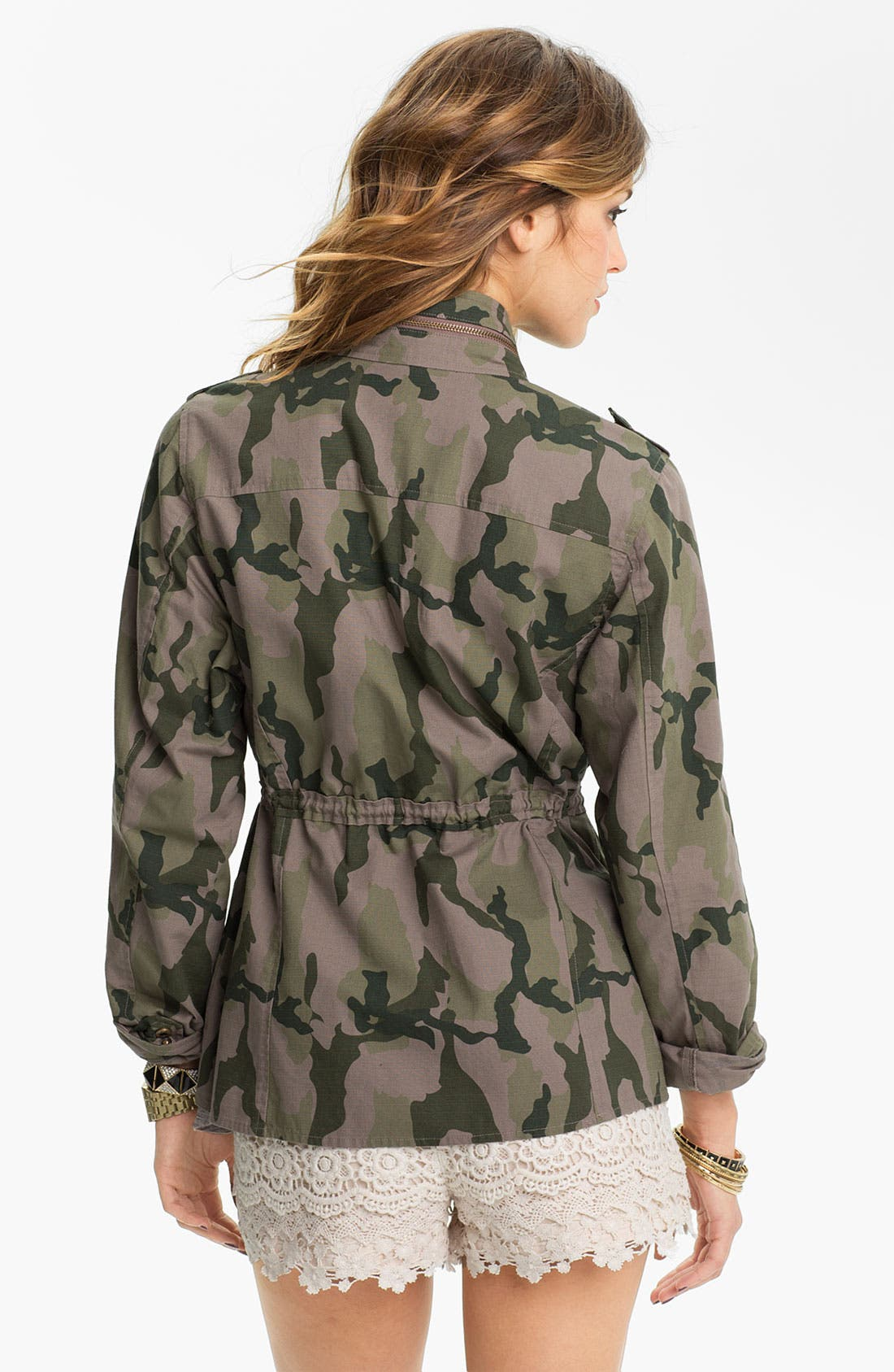 LOVE, FIRE, Fire Studded Camo Army Jacket, Alternate thumbnail 2, color, 305