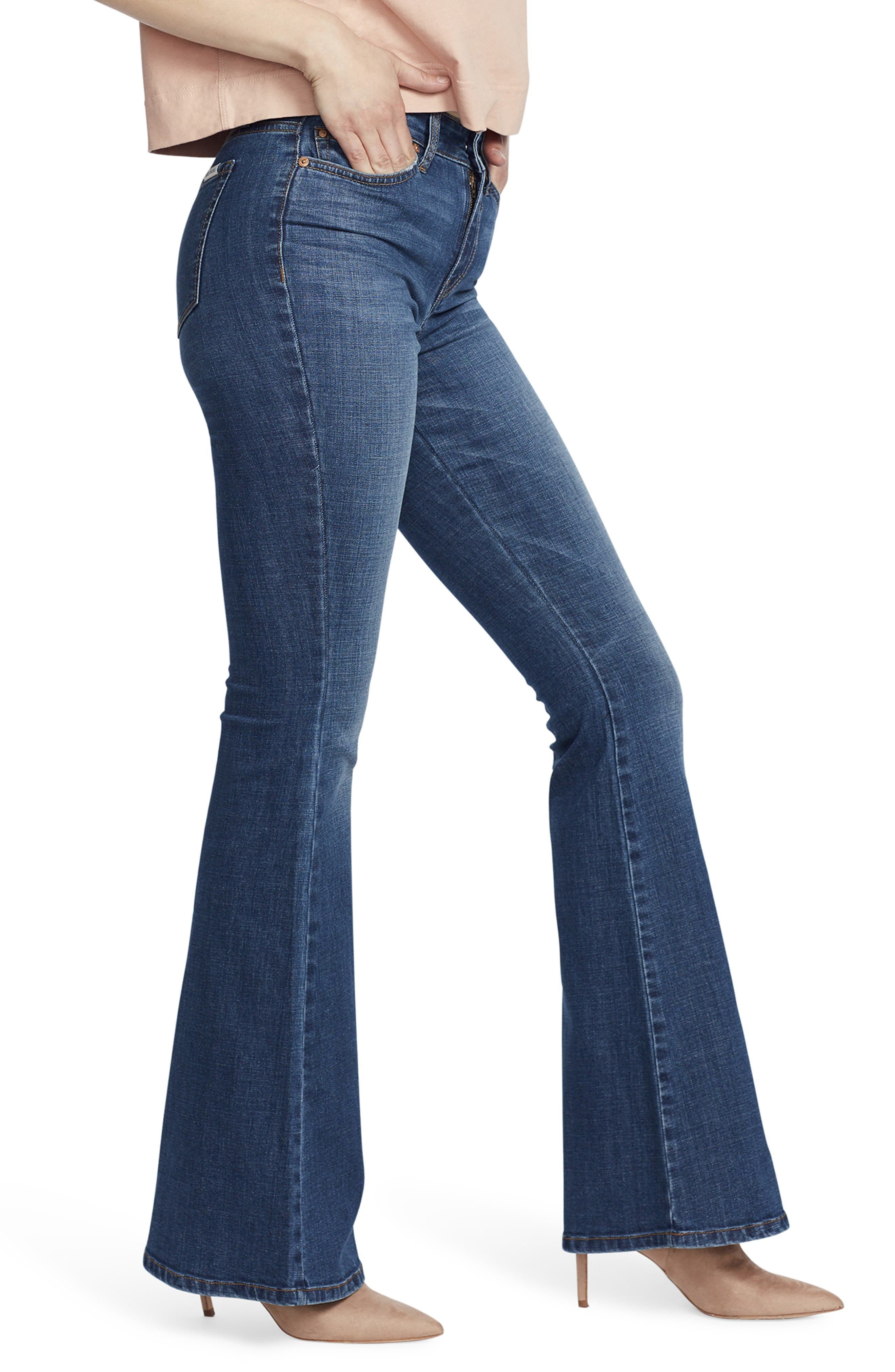 ELLA MOSS, High Waist Flare Jeans, Alternate thumbnail 3, color, NAOMI